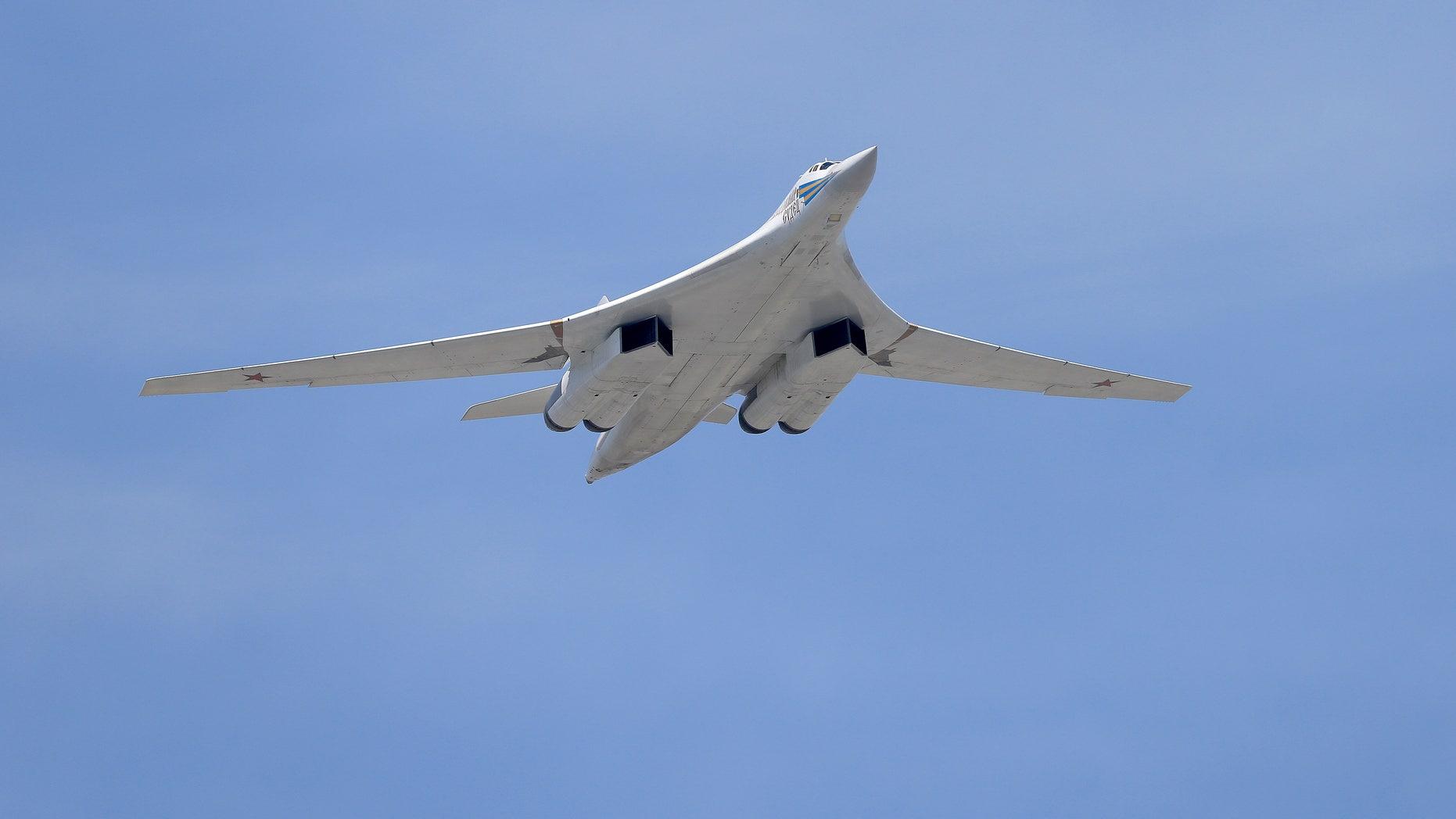 A Tu-160 Blackjack strategic bomber.
