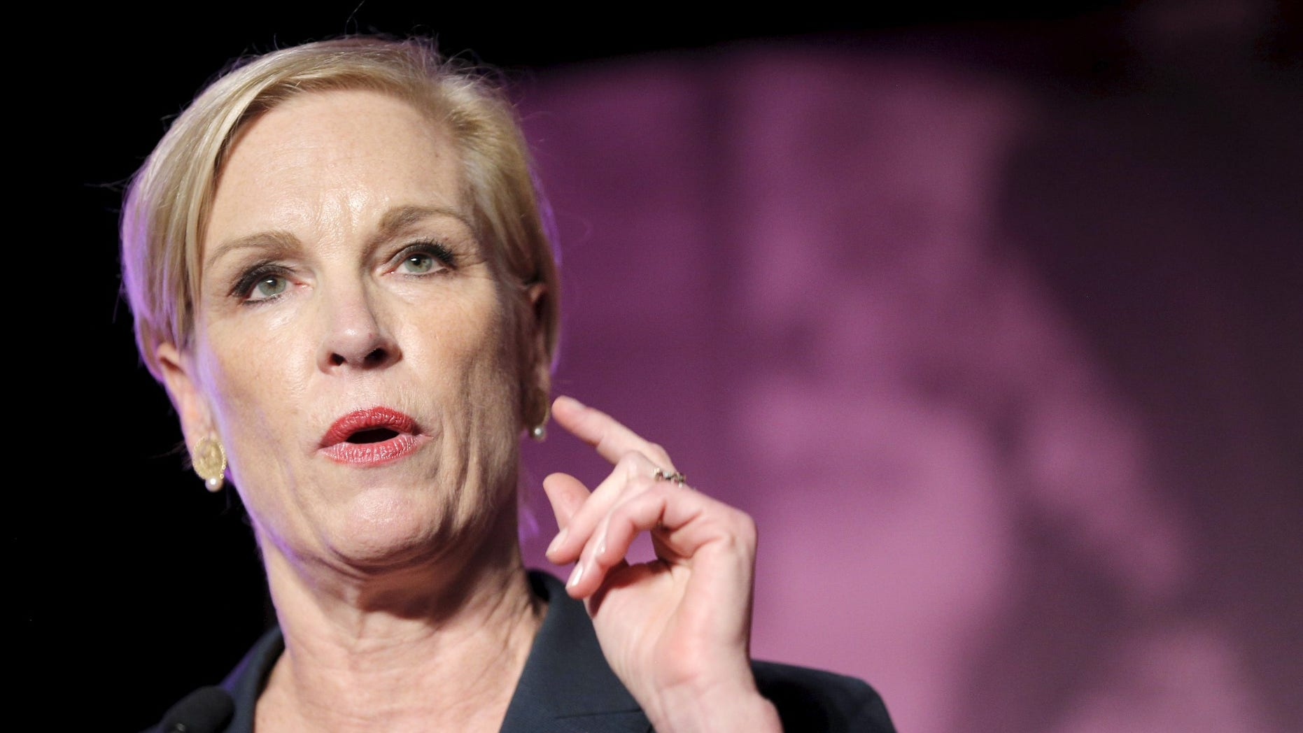 FILE -- Planned Parenthood Action Fund President Cecile Richards speaks at an event to publicly endorse U.S. Democratic presidential candidate Hillary Clinton in Hooksett, New Hampshire, January 10, 2016.