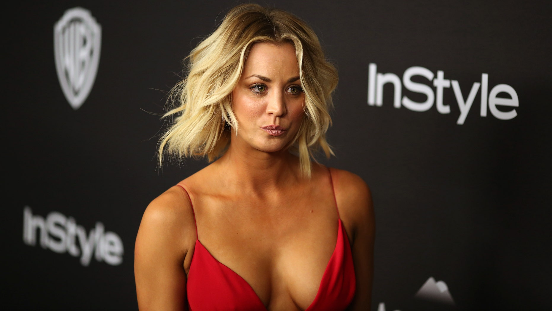 Kaley Cuoco at the 17th Annual Instyle and Warner Bros. Pictures Golden Globes After-Party in 2016.