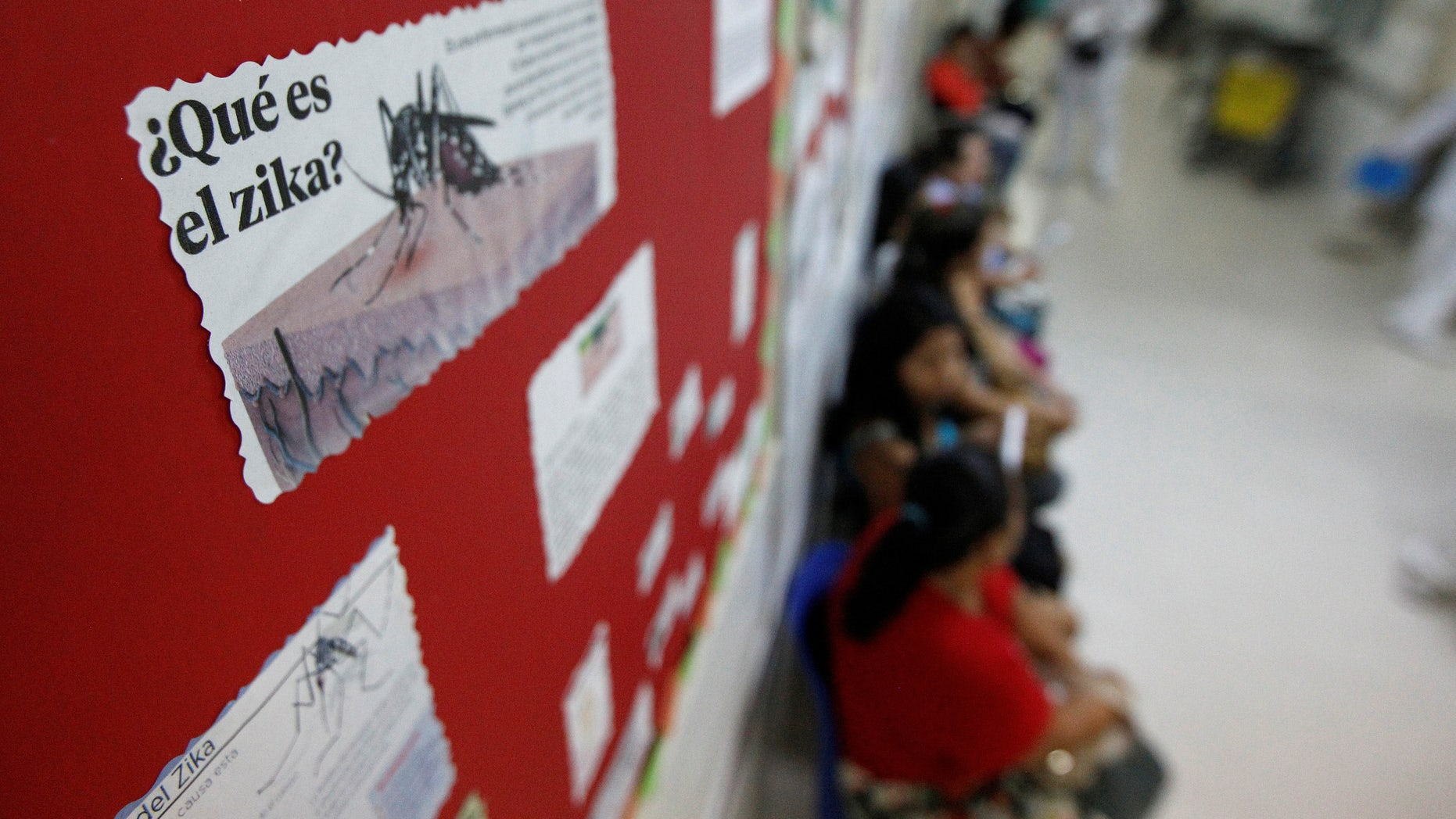A flyer explaining what is Zika is posted at the maternity ward of the Hospital Escuela in Tegucigalpa, Honduras April 15, 2016. REUTERS/Jorge Cabrera