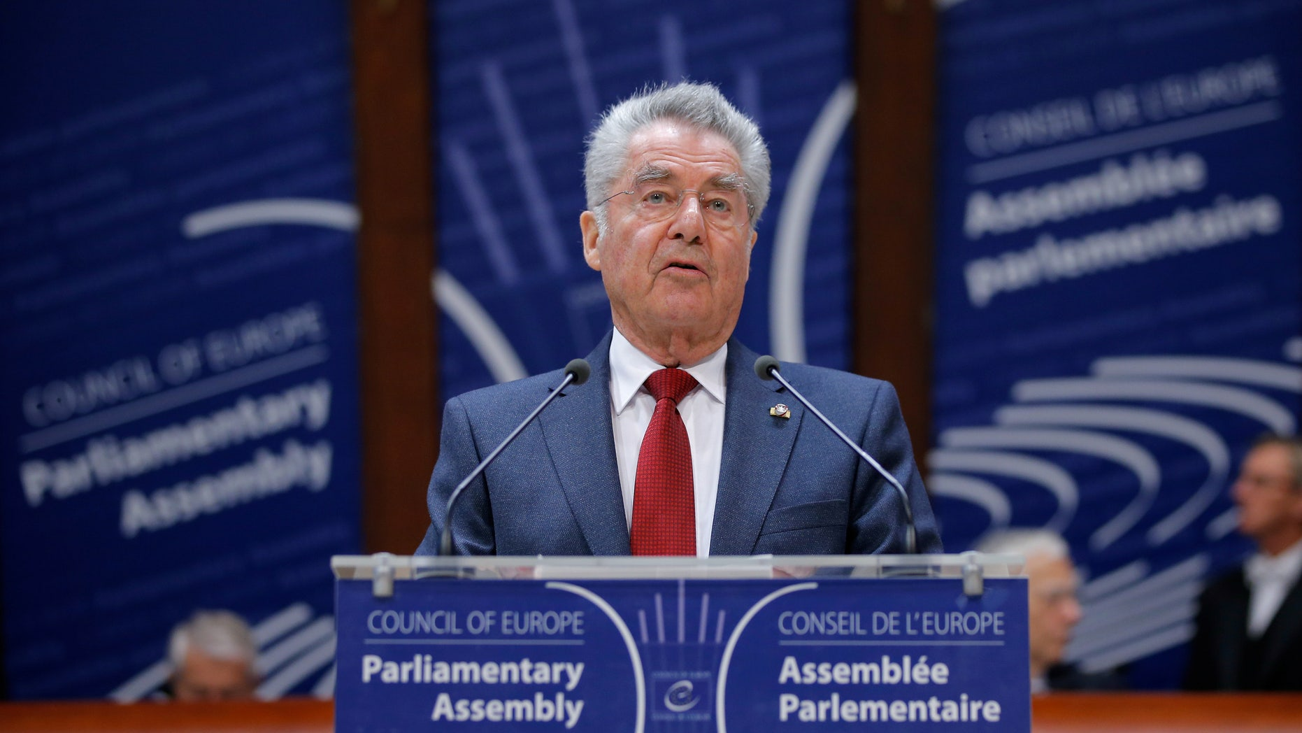 April 20, 2016: Austrian President Heinz Fischer addresses the Parliamentary Assembly of the Council of Europe in Strasbourg, France. (Reuters)
