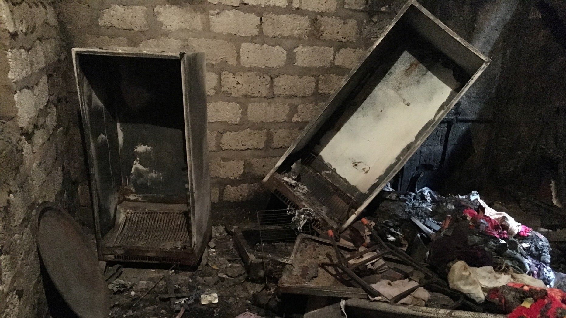 Sunday's attack came months after Christian families' homes were looted in Egypt's Minya province. Damage at one of the homes is seen here.