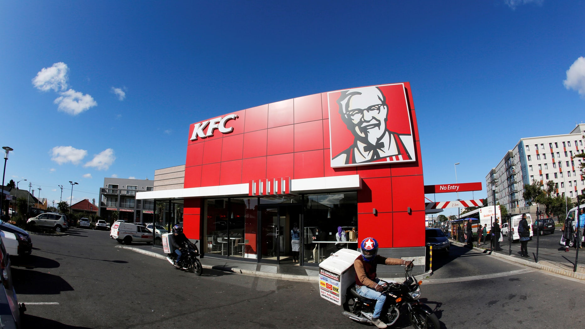 A branch of fast food outlet Kentucky Fried Chicken (KFC) is seen in Cape Town, South Africa, June 3, 2016. REUTERS/Mike Hutchings - RTX2FIMY