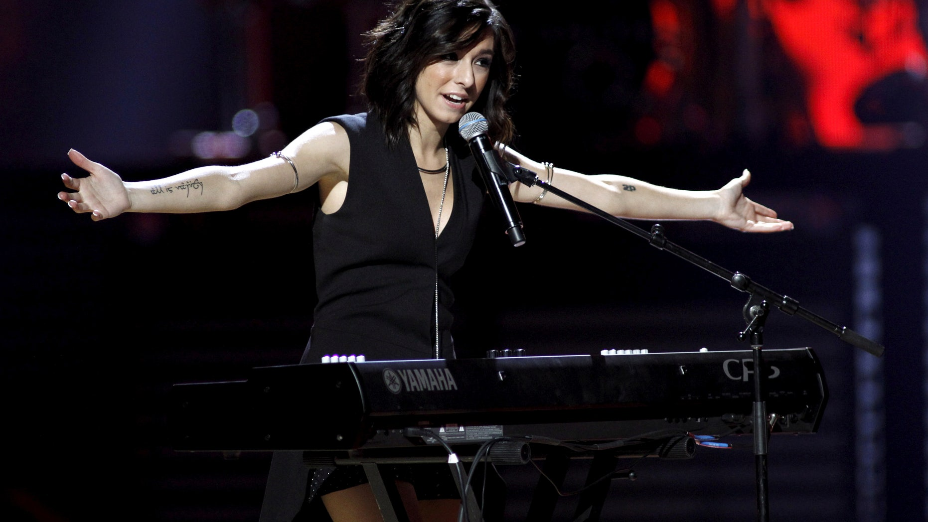 Macy's iHeartRadio Rising Star singer Christina Grimmie performs during the 2015 iHeartRadio Music Festival at the MGM Grand Garden Arena in Las Vegas, Nevada September 18, 2015.