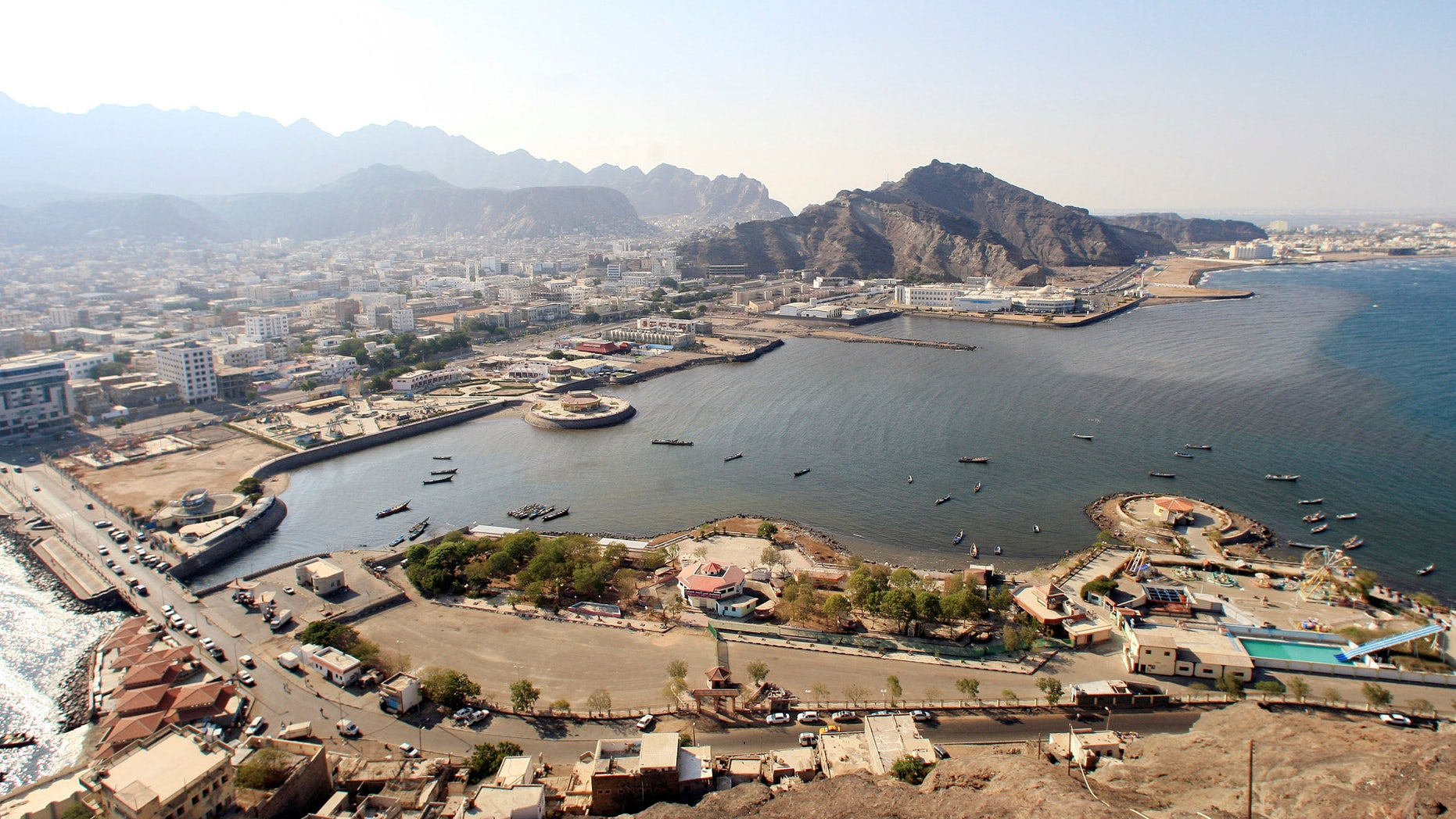 An aerial view of Aden.