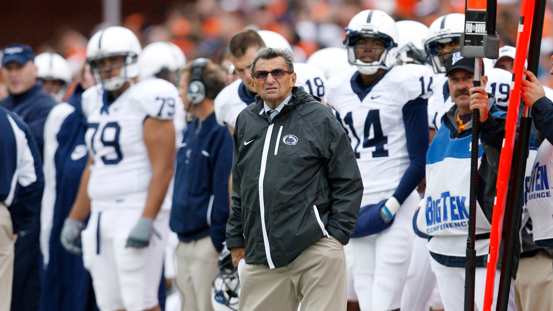 Joe Paterno during a Penn State game in 2009.