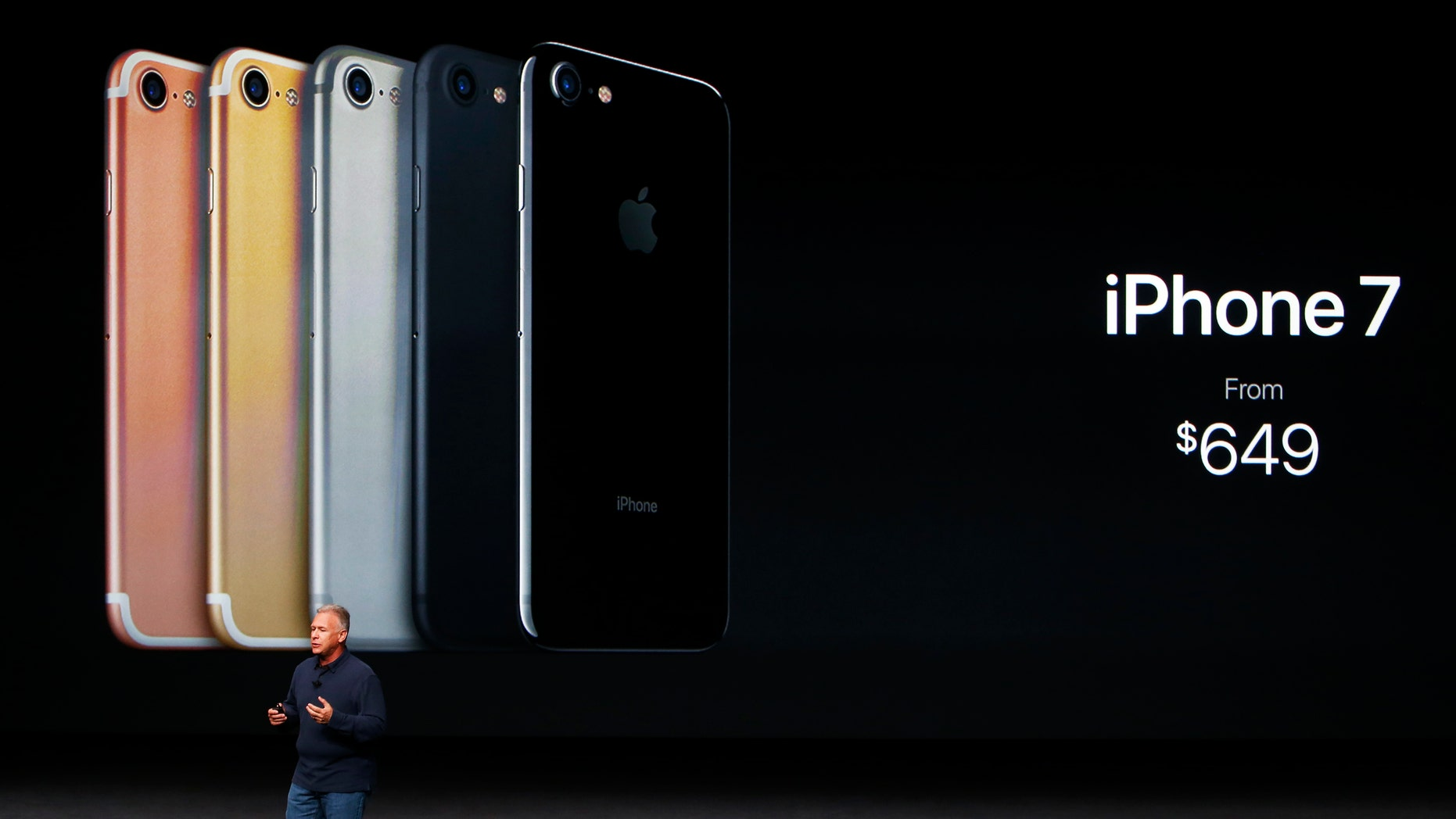 Phil Schiller, Senior Vice President of Worldwide Marketing at Apple Inc, discusses the iPhone 7 during an Apple media event in San Francisco, California, U.S. September 7, 2016.