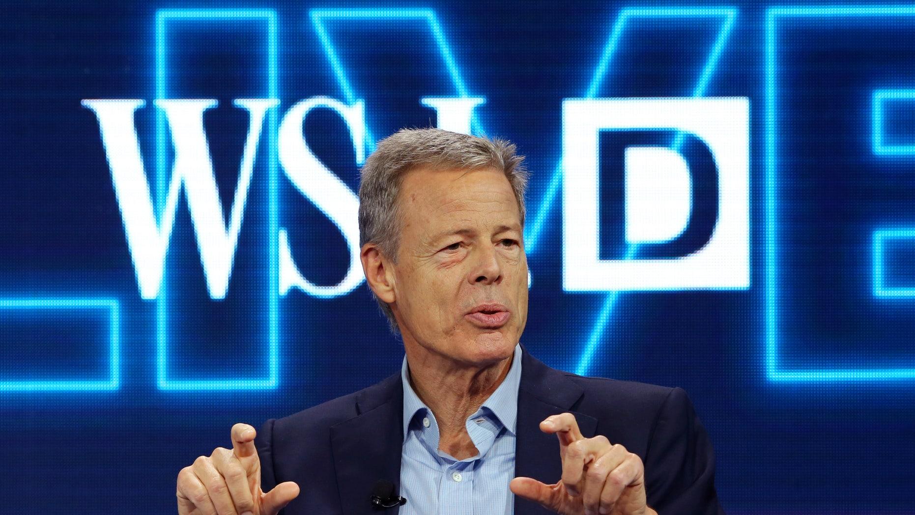Time Warner Inc CEO Jeff Bewkes discuss his companies proposed merger with AT&T at the WSJD Live conference in Laguna Beach, California, U.S., October 25, 2016.