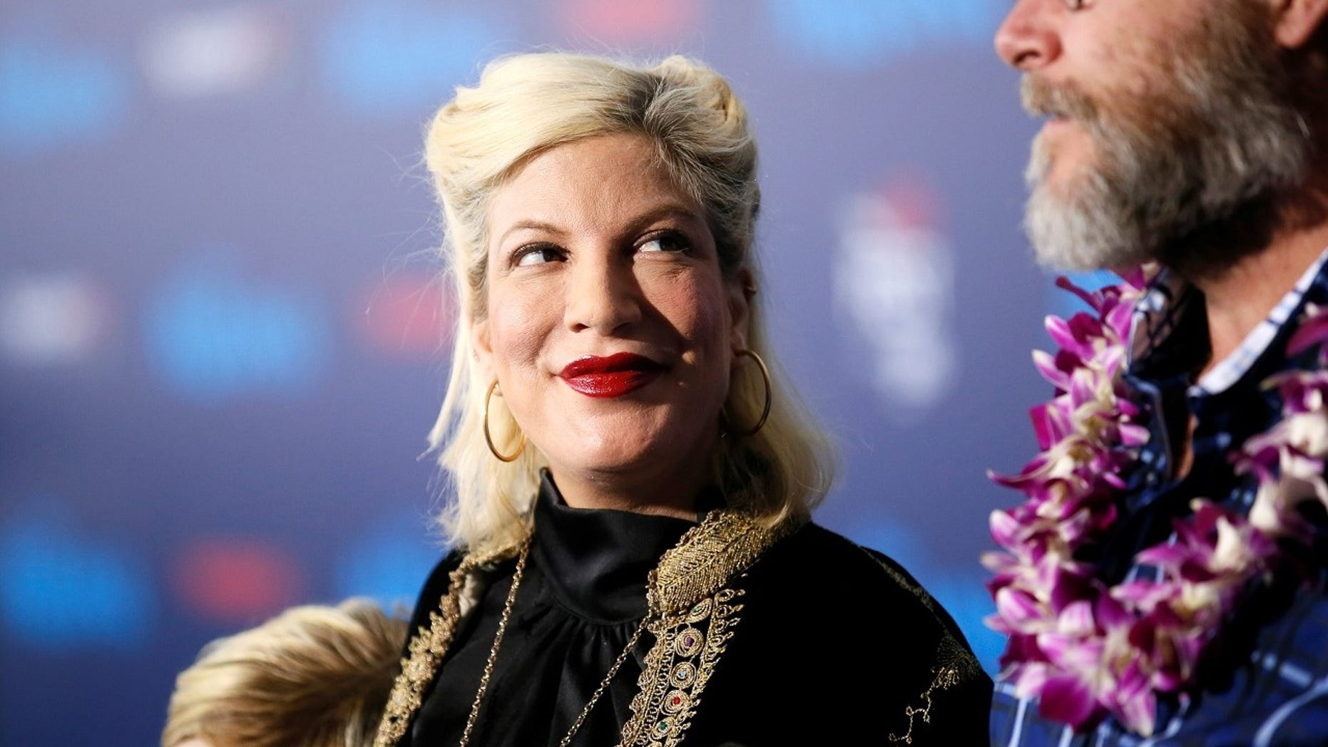 Tori Spelling went back to work over the weekend following family turmoil that began earlier this month.