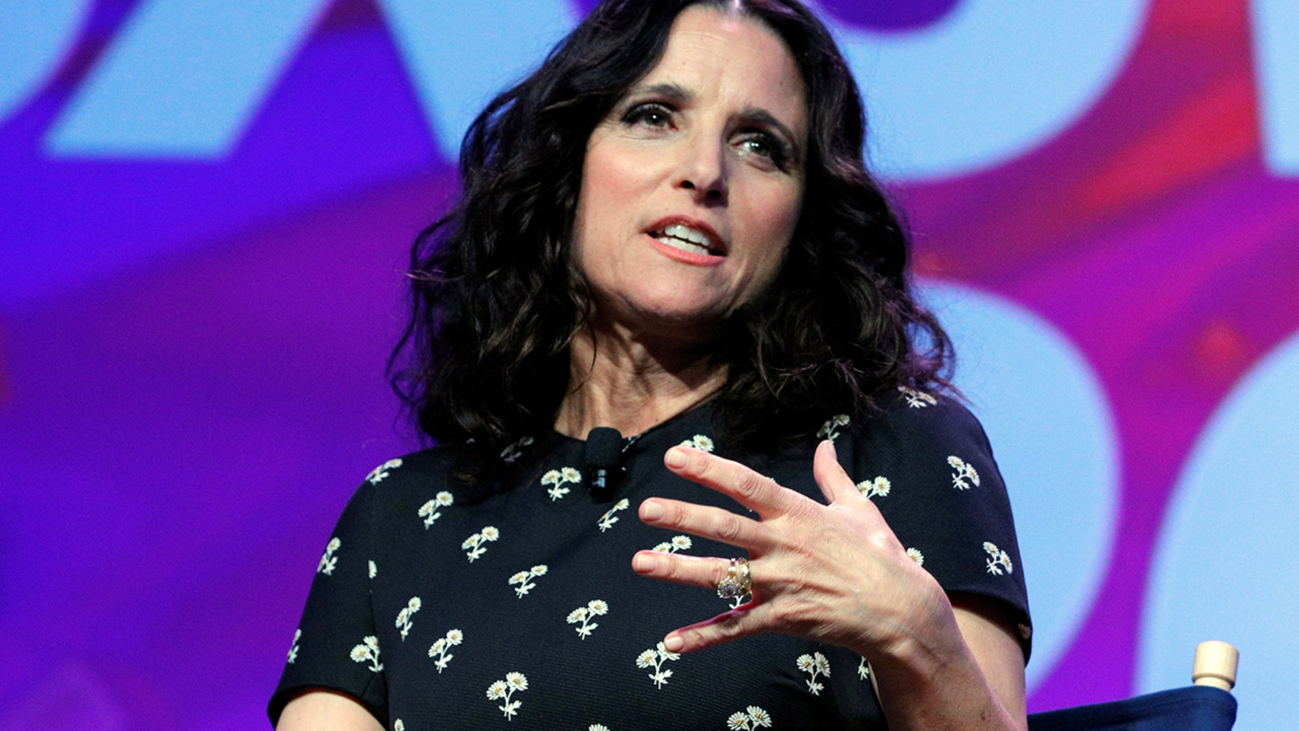 Julia Louis-Dreyfus joins the cast and showrunner of the television series Veep for a discussion at the South by Southwest (SXSW) Music Film Interactive Festival 2017 in Austin, Texas, U.S., March 13, 2017.