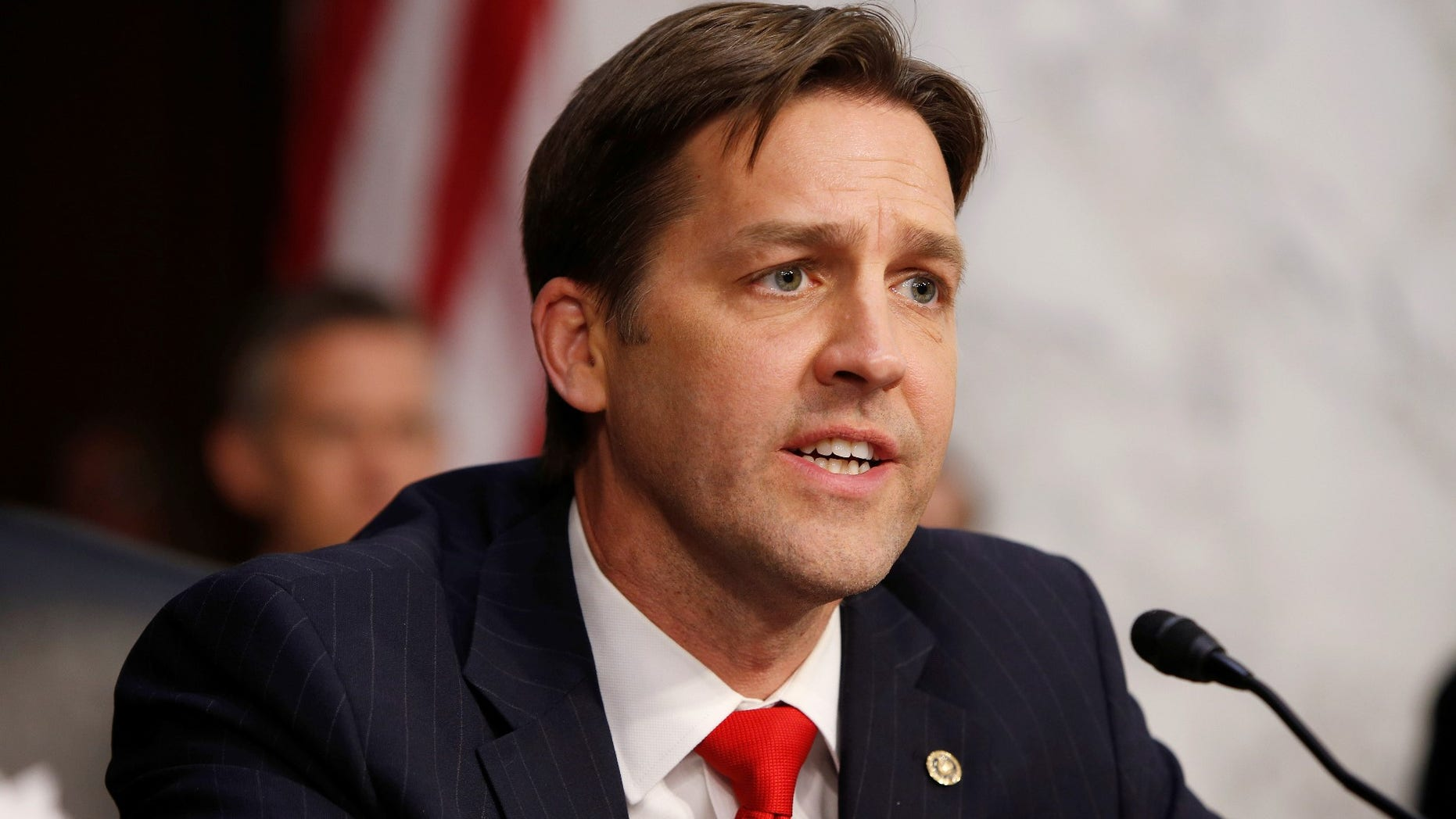 FILE -- Senator Ben Sasse (R-NE) questions Supreme Court nominee judge Neil Gorsuch during his Senate Judiciary Committee confirmation hearing on Capitol Hill in Washington, U.S., March 21, 2017.