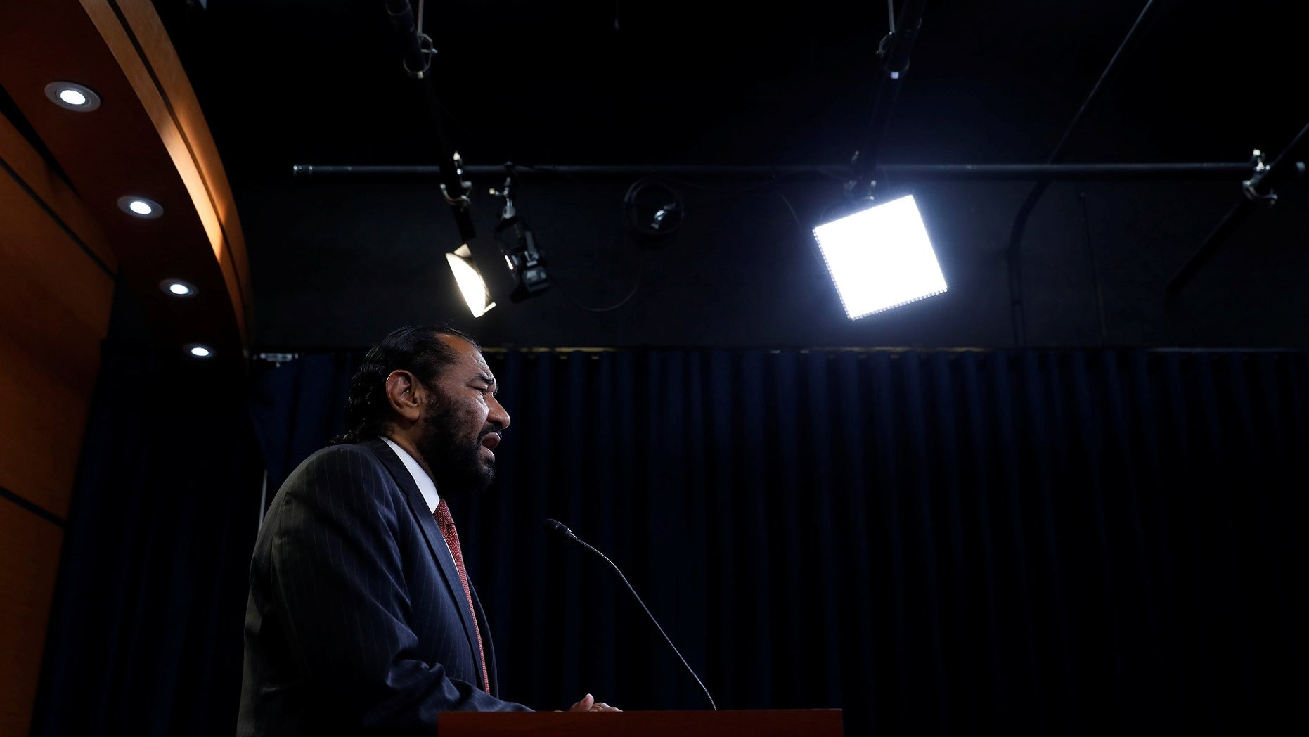 "Rep. Al Green, D-Texas, again presented articles of impeachment against President Trump, calling him ""unfit"" for his office."
