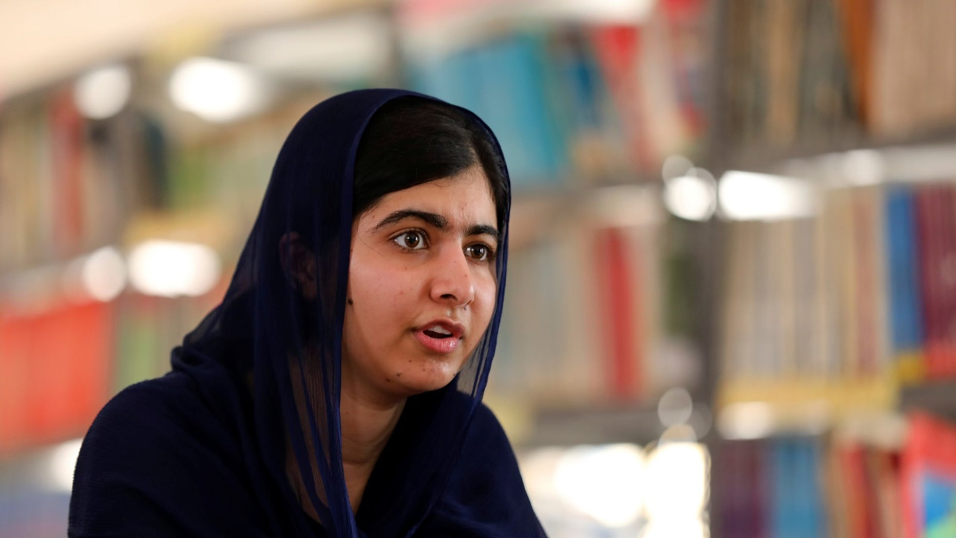 Nobel laureate Malala Yousafzai speaks during an interview with Reuters in Maiduguri, Nigeria, July 18, 2017.