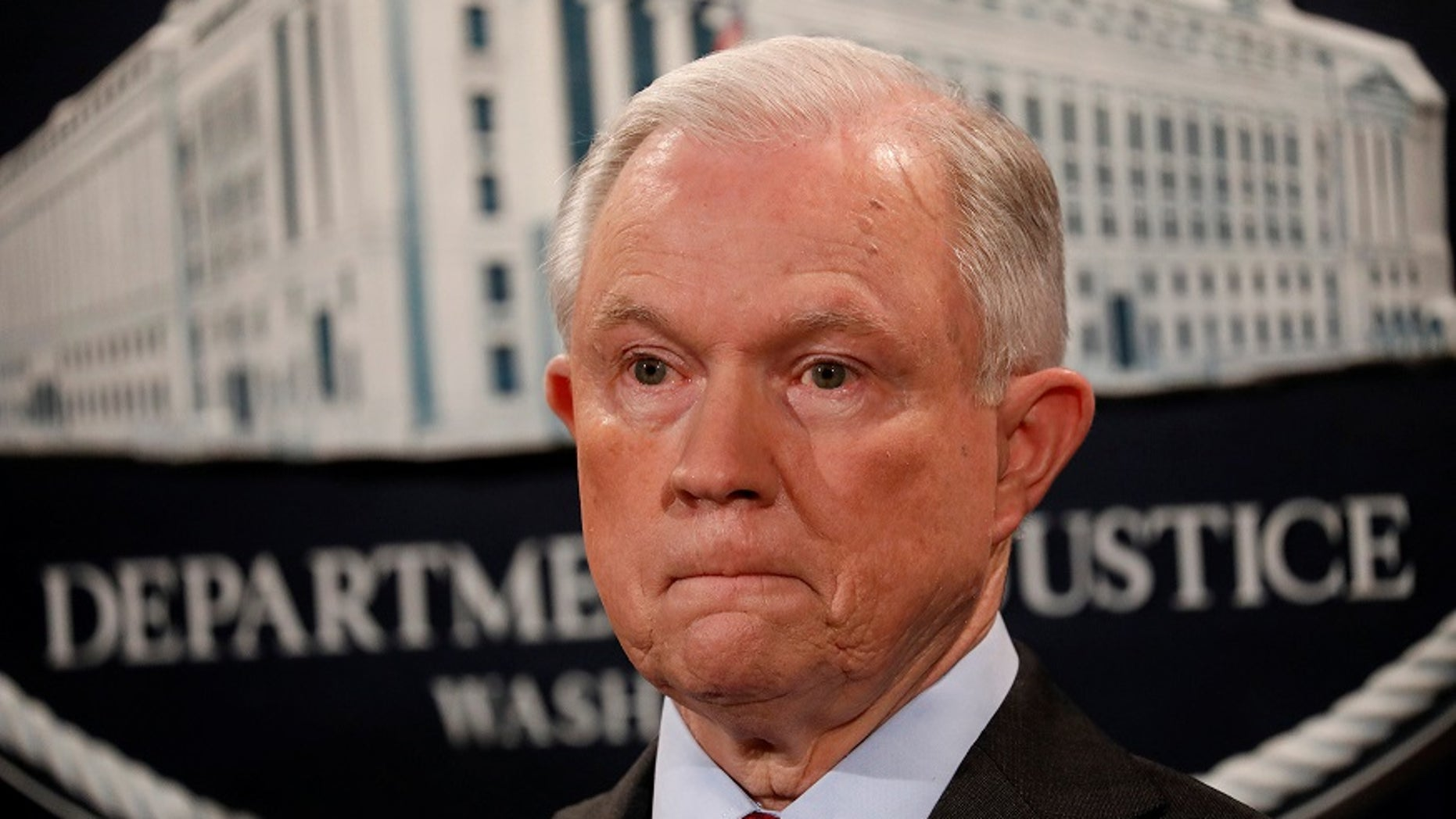U.S. Attorney General Jeff Sessions, seen in Washington, July 20, 2017, has instructed prosecutors to pursue the most serious charges in drug-related cases.