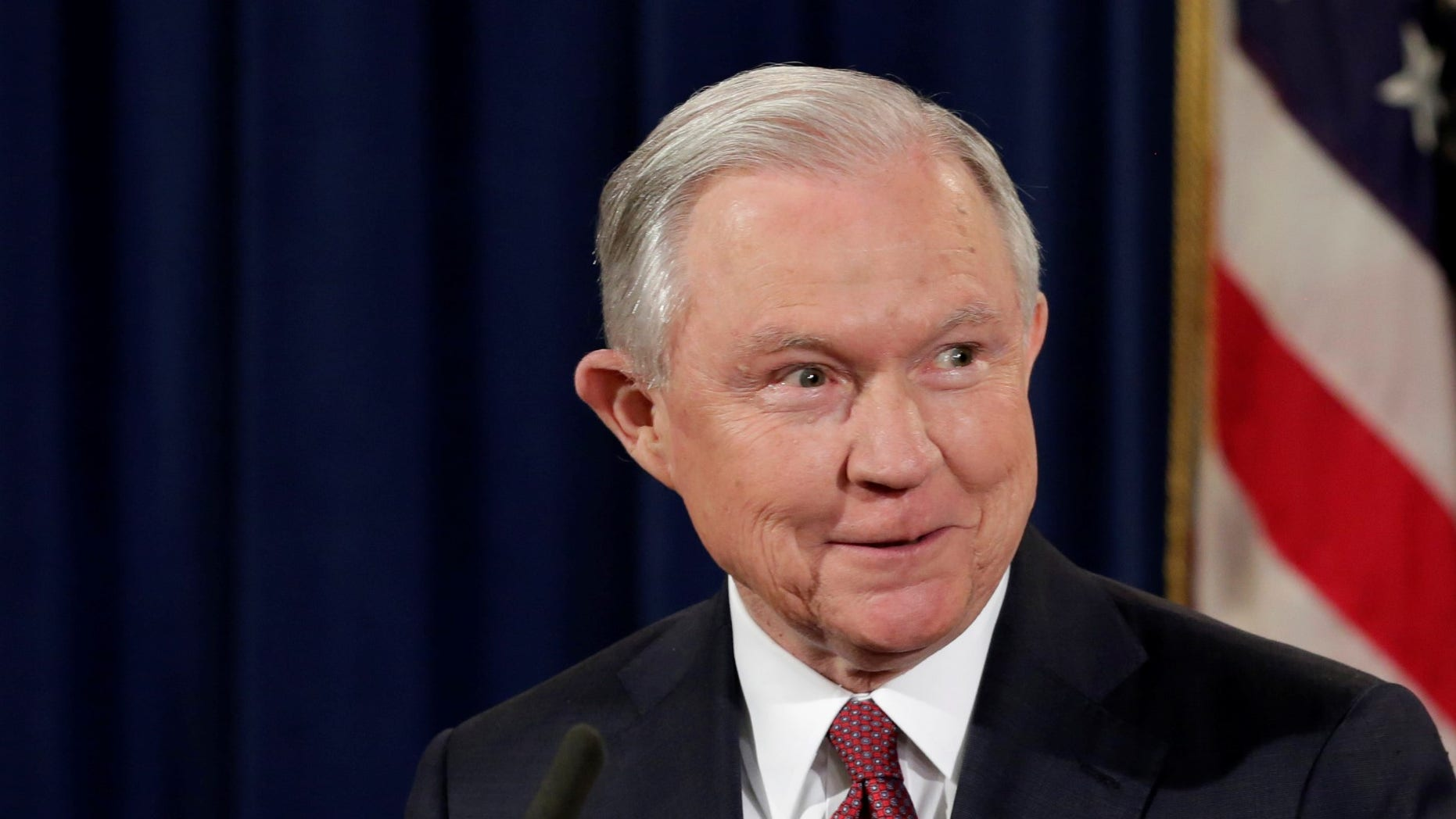Attorney General Jeff Sessions speaks at a news conference to address the Deferred Action for Childhood Arrivals (DACA) program at the Justice Department in Washington, U.S., September 5, 2017.