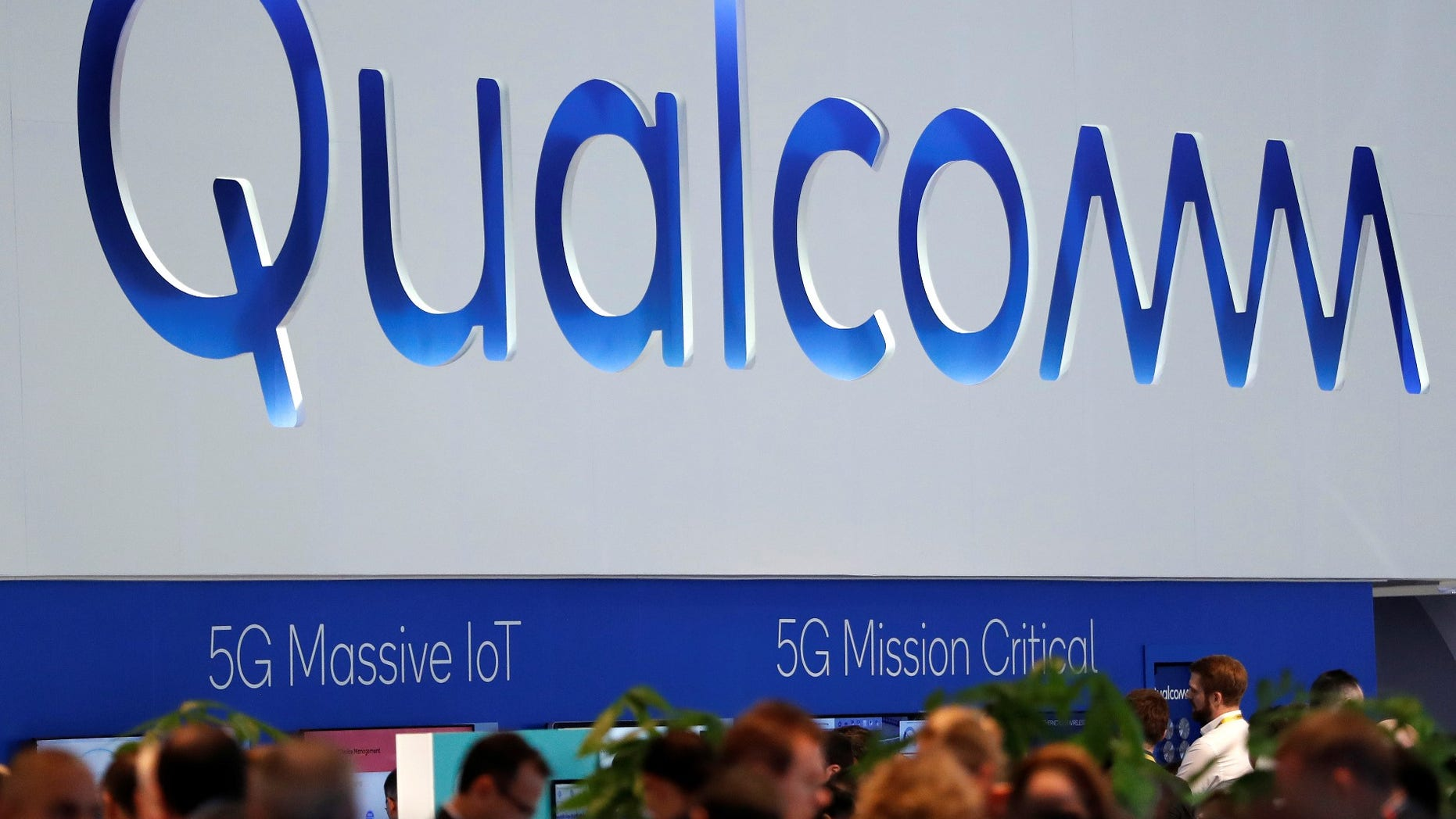 FILE -- The logo of Qualcomm is seen during the Mobile World Congress in Barcelona, Spain February 27, 2018.