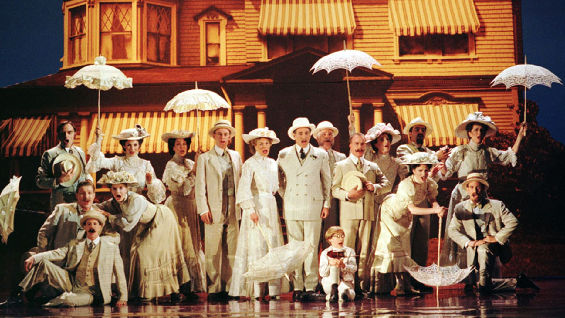 """The cast of the Broadway play """"Ragtime"""" performs a scene from the play, during the 1998 Tony Award Ceremonies at Radio City Music Hall in New York, June 7. """"Ragtime"""" won six awards in the 130th annual Tony Awards show. - RTXI9JY"""
