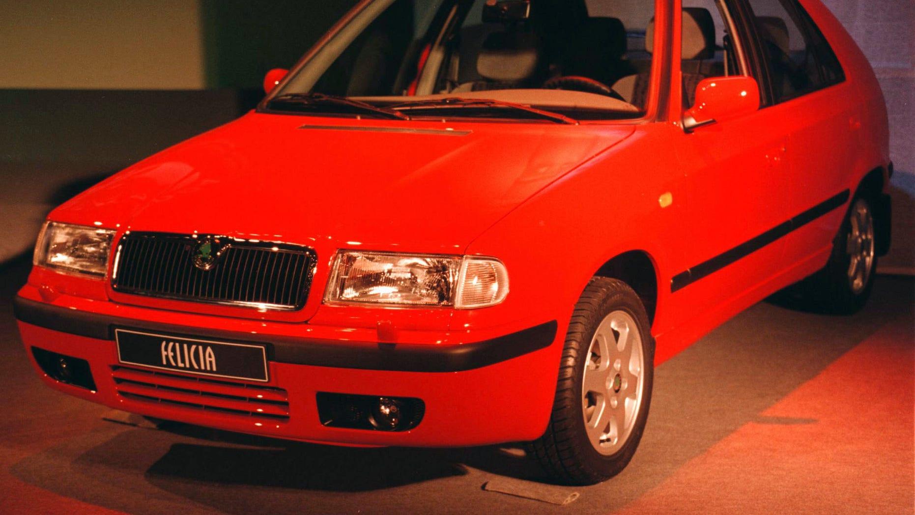 A Skoda Felicia on display in 1998.