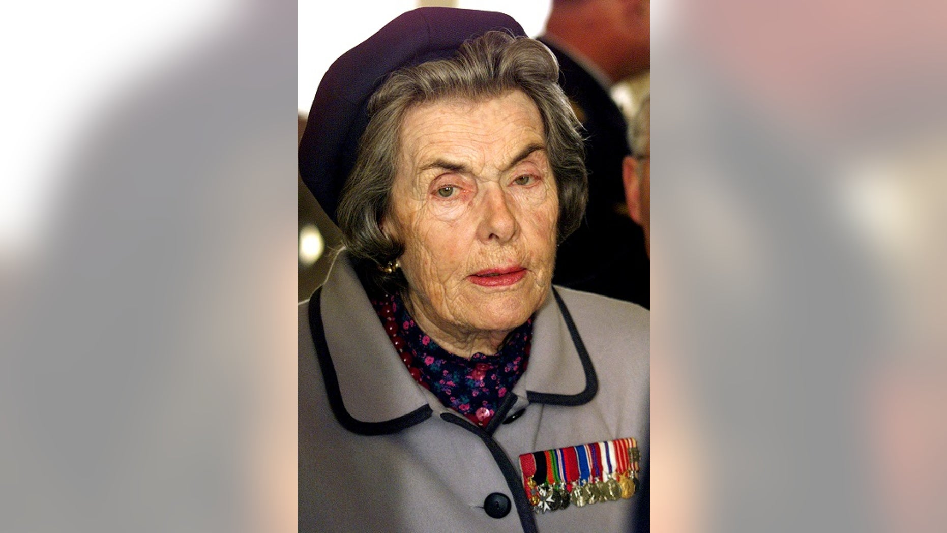 FILE -- British Countess Mountbatten seen during a ceremony where she pays tribute to British wartime heroes in Blanquefort near Bordeaux, December 12, 2002.
