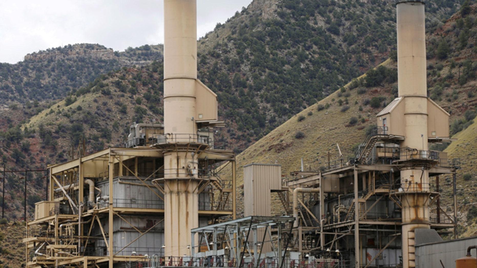 Aug. 3, 2015: Smoke no longer rises out of the smokestacks at the coal-fired Castle Gate Power Plant outside Helper, Utah.