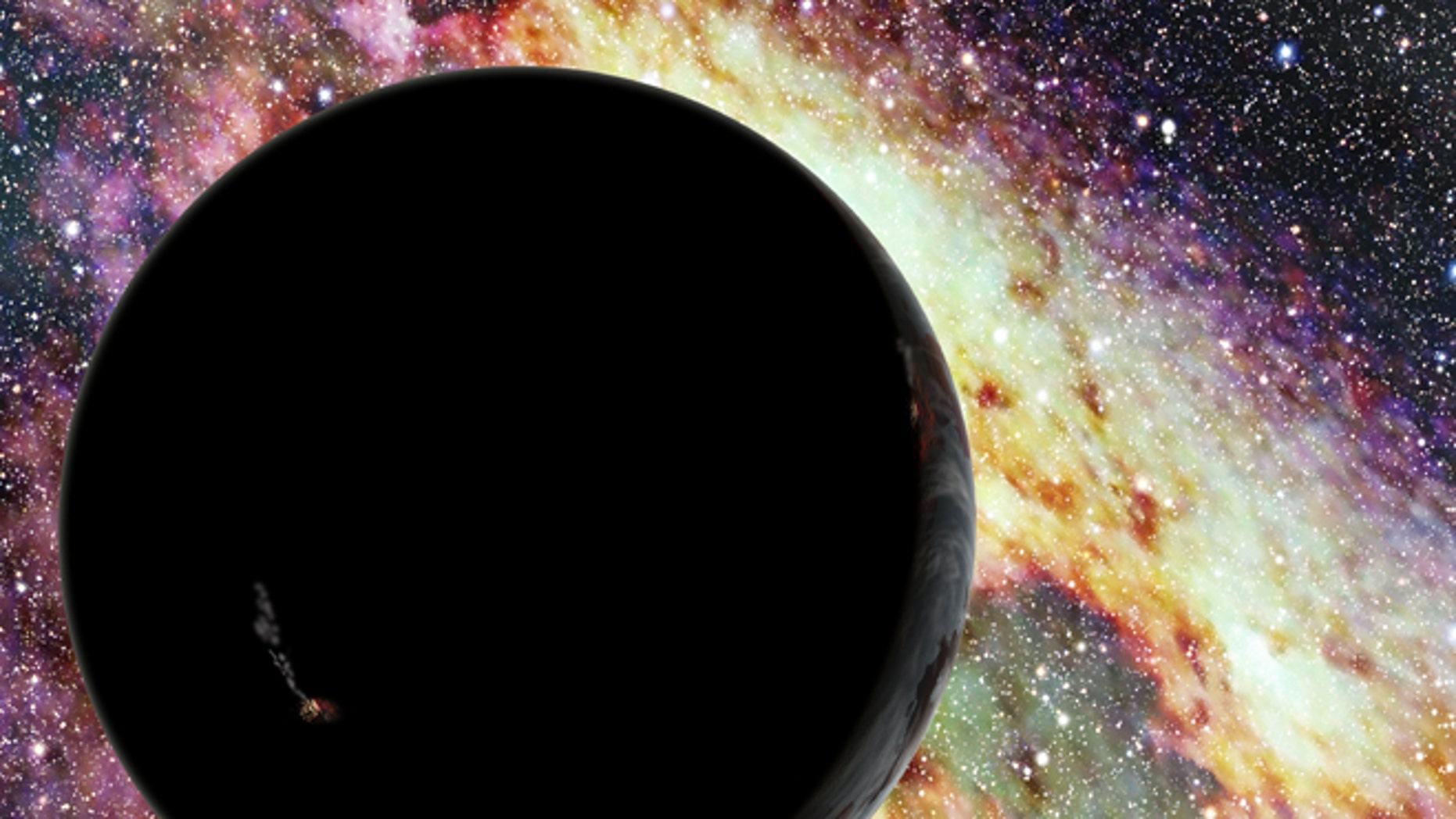 In this artist's conception, a runaway planet zooms through interstellar space. New research suggests that the supermassive black hole at our galaxy's center can fling planets outward at relativistic speeds. Eventually, such worlds will escape the Milky Way and travel through the lonely intergalactic void.