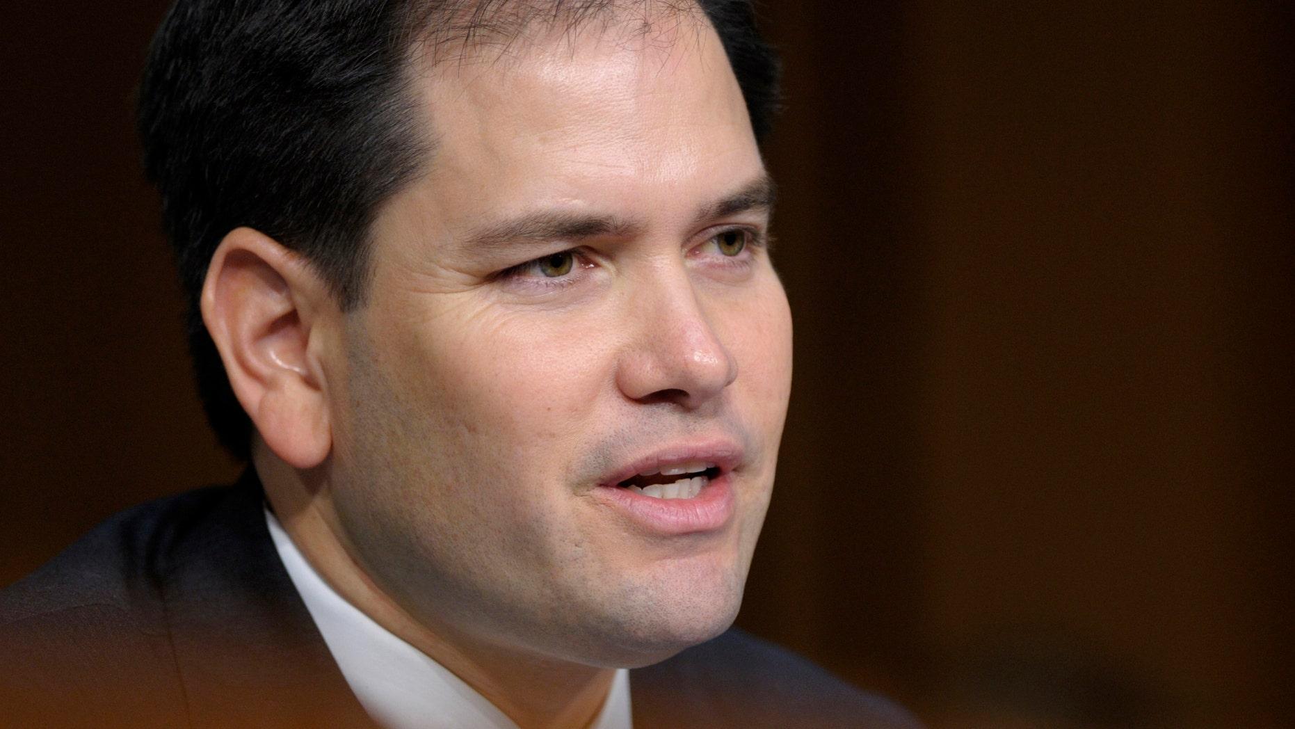 FILE: Undated: Sen. Marco Rubio, R-Fla.