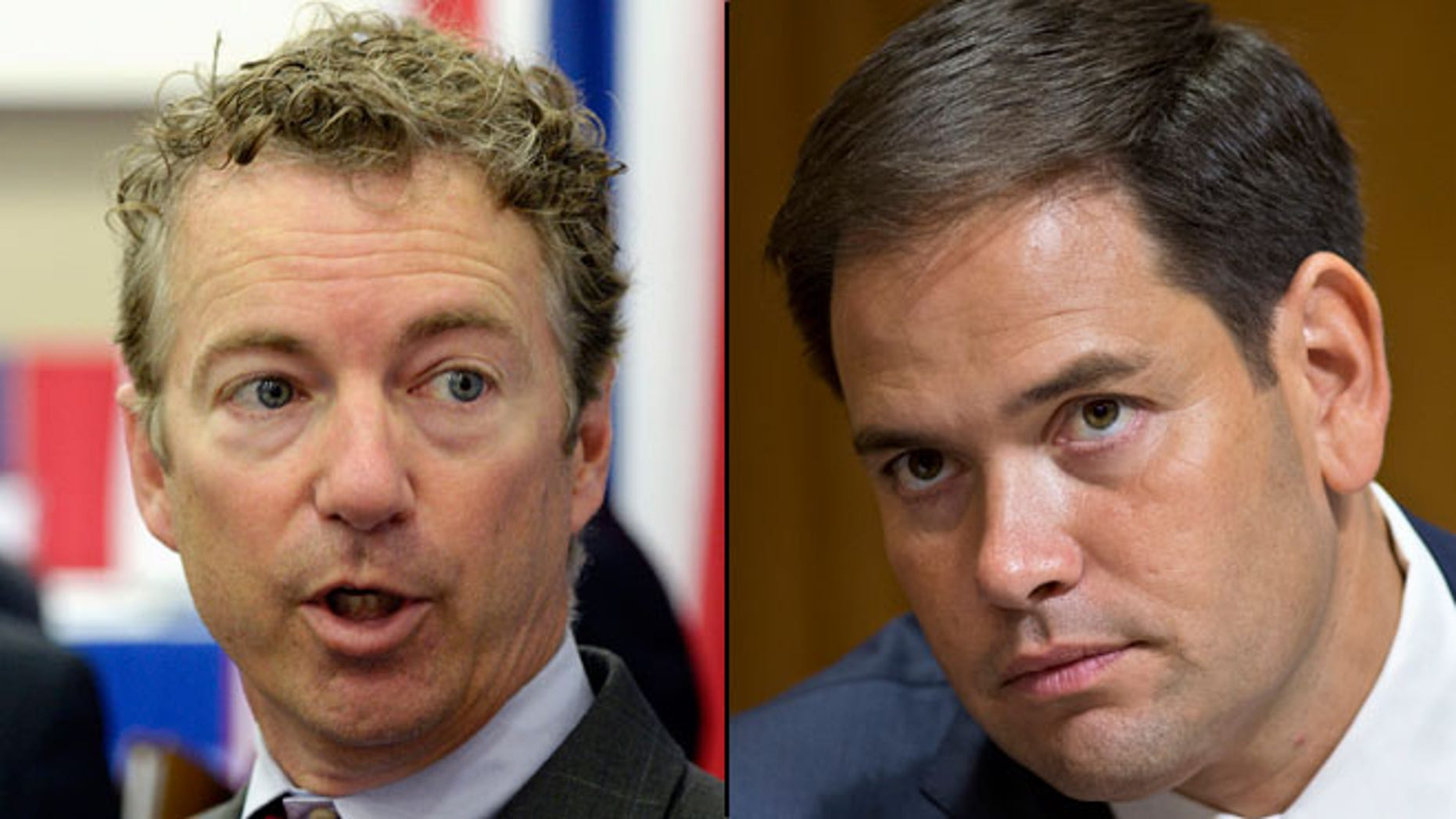 Shown here are Sens. Rand Paul, R-Ky., left, and Marco Rubio, R-Fla.