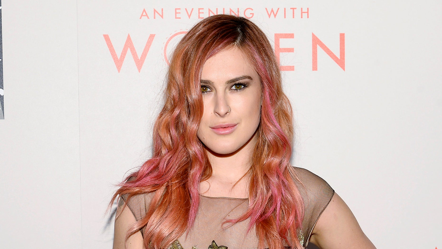 """May 10, 2014. Actress Rumer Willis arrives for the L.A. Gay & Lesbian Center's Annual """"An Evening With Women"""" event in Beverly Hills, California."""