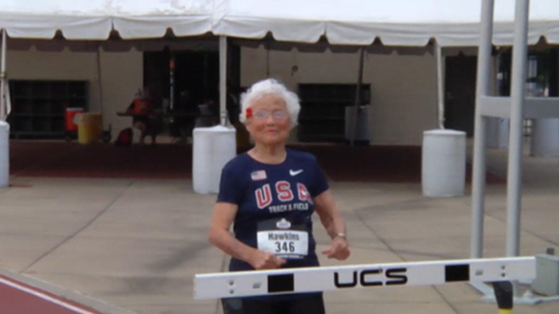 "Julia ""Hurricane"" Hawkins, age 101"