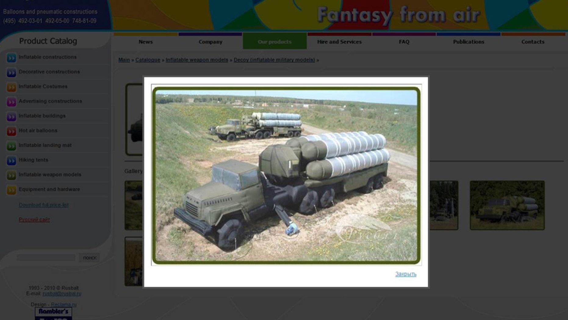 Screenshot from eng.rusbal.ru