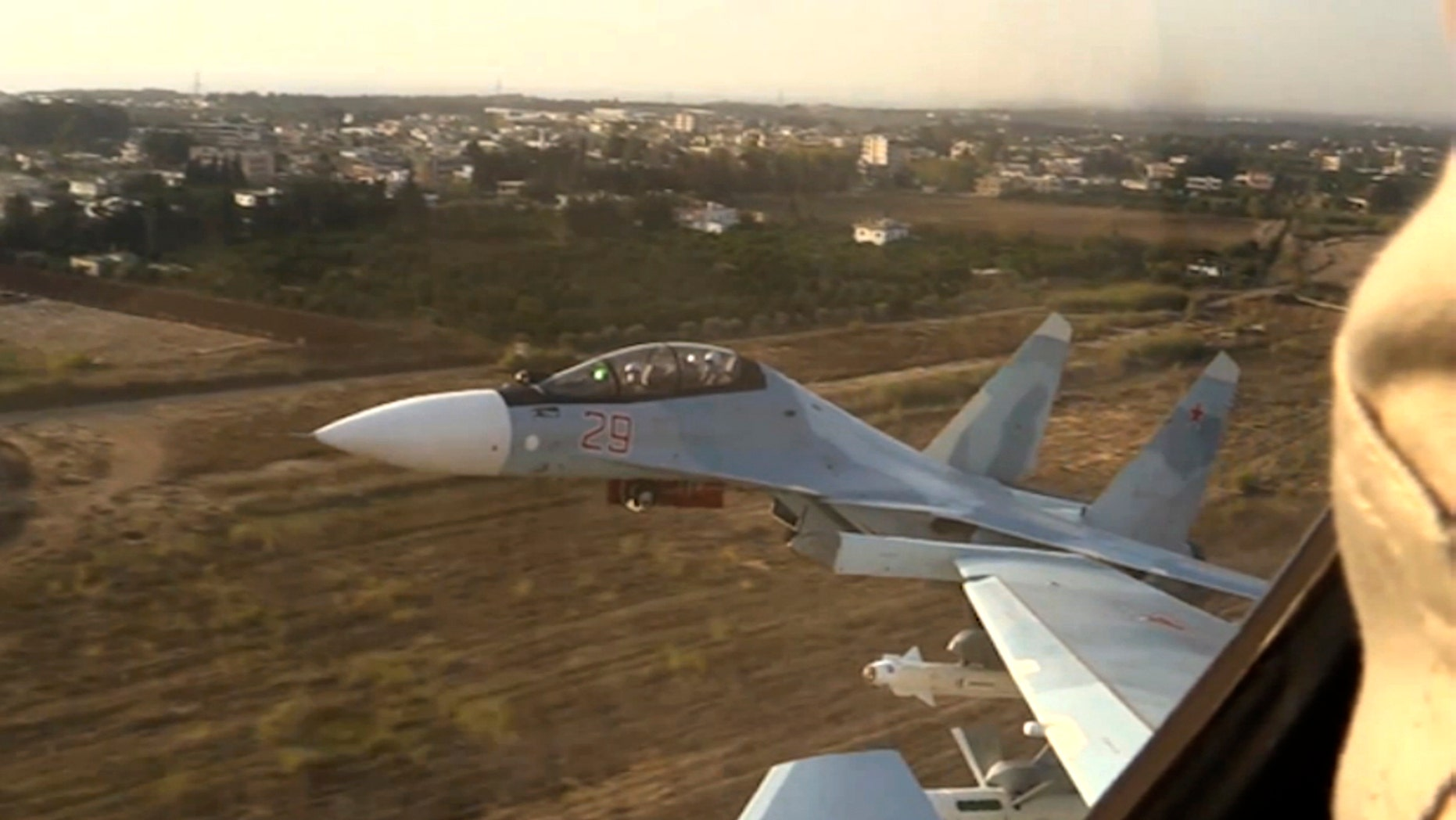 Russian fighter jets take off from Syria's Hemeimeem air base in November.