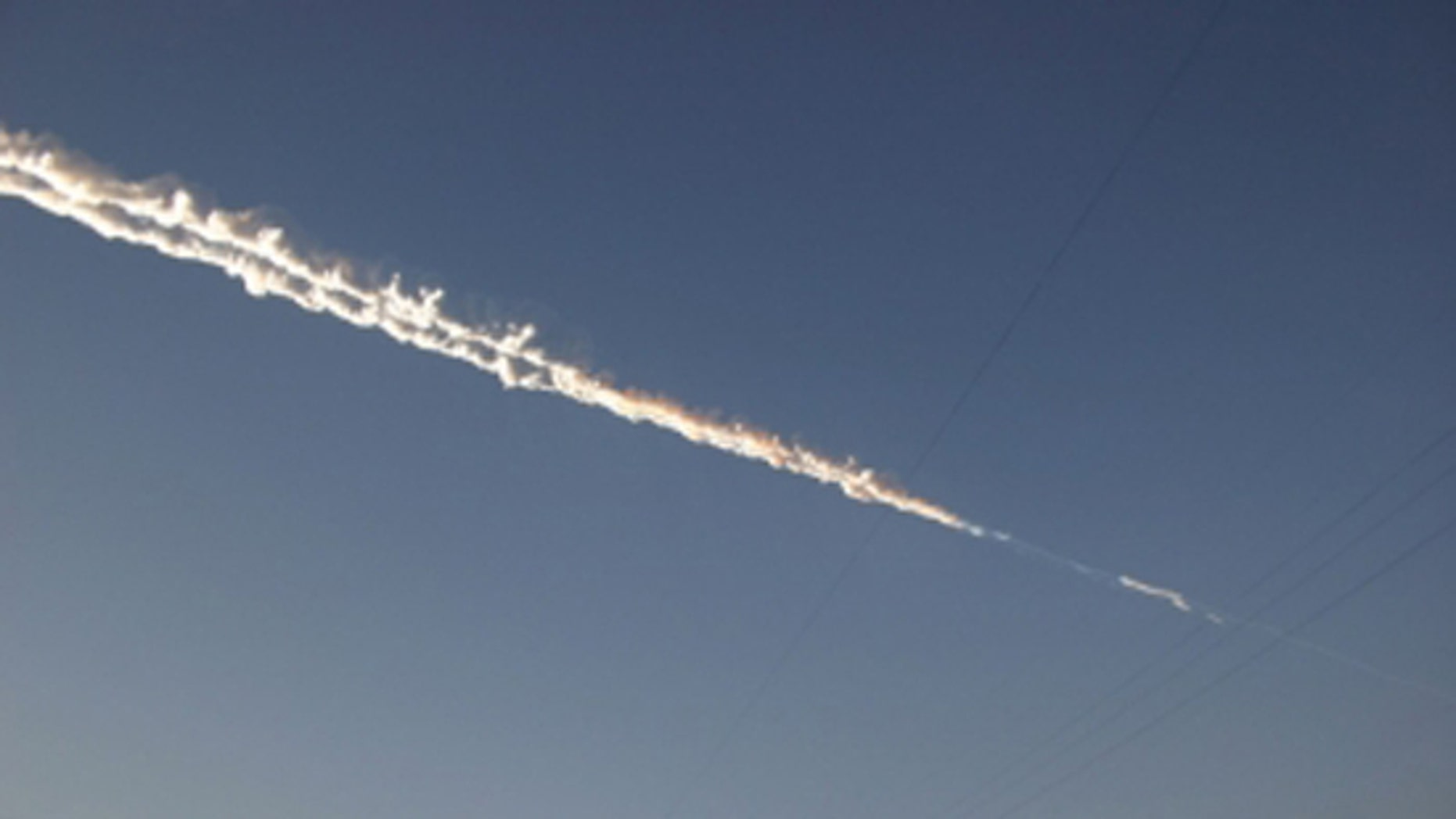 Meteor Trail Over Russia: Feb. 15