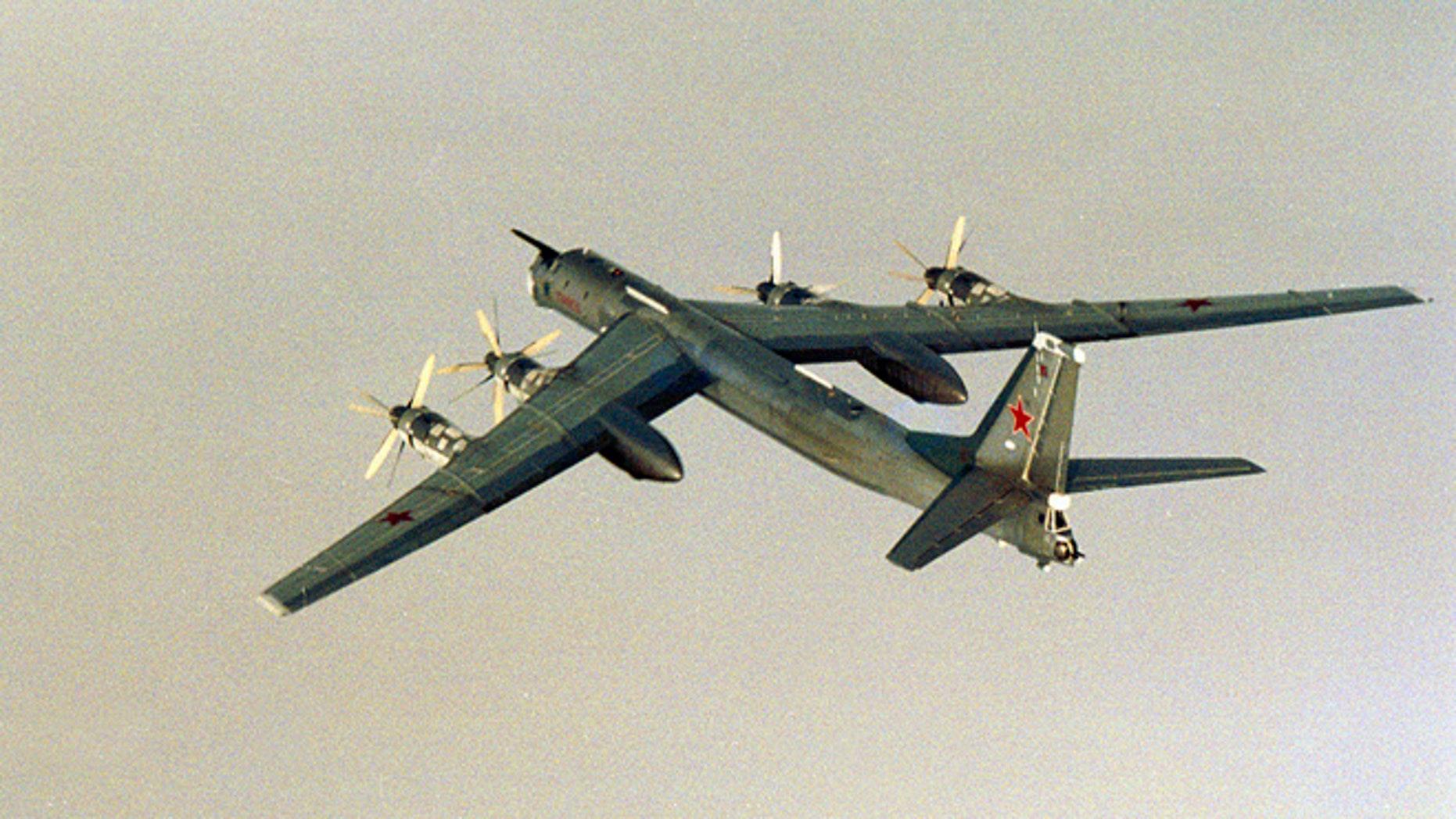 A Russian Tu-95 bomber.