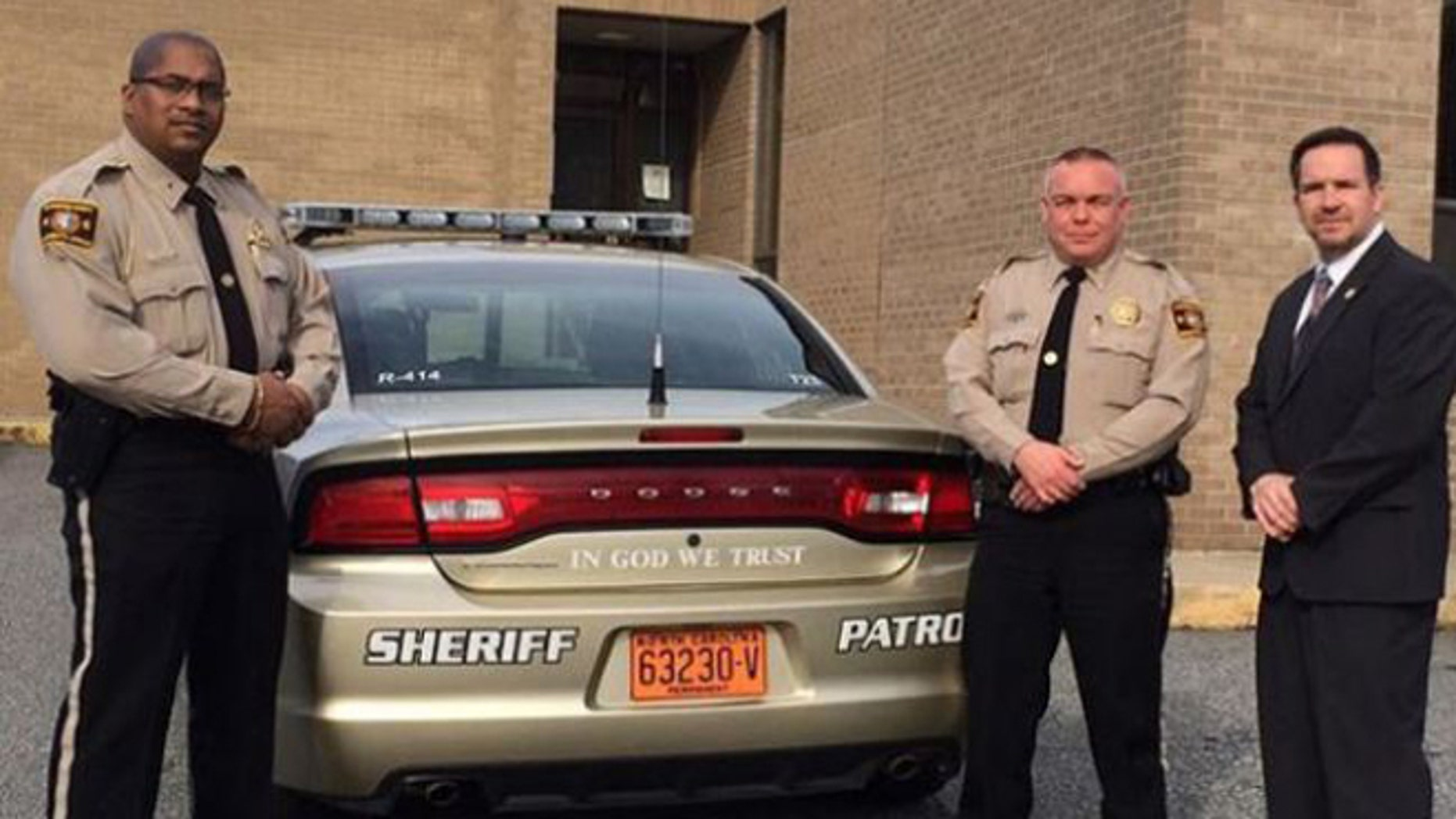 Lt. Leon Godlock, Lt Warren Sprouse and Sheriff Chris Francis. (Rutherford County Sheriff's Office)