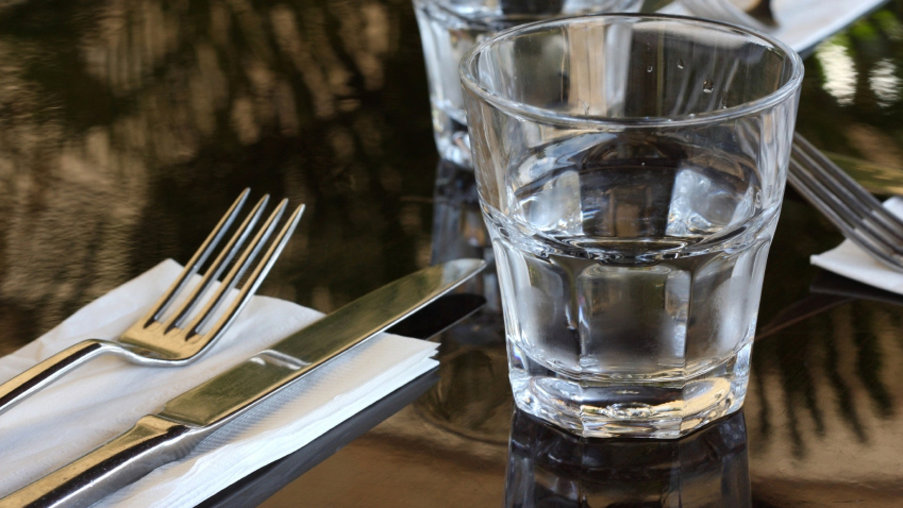 Get ready for empty water glasses at the table.