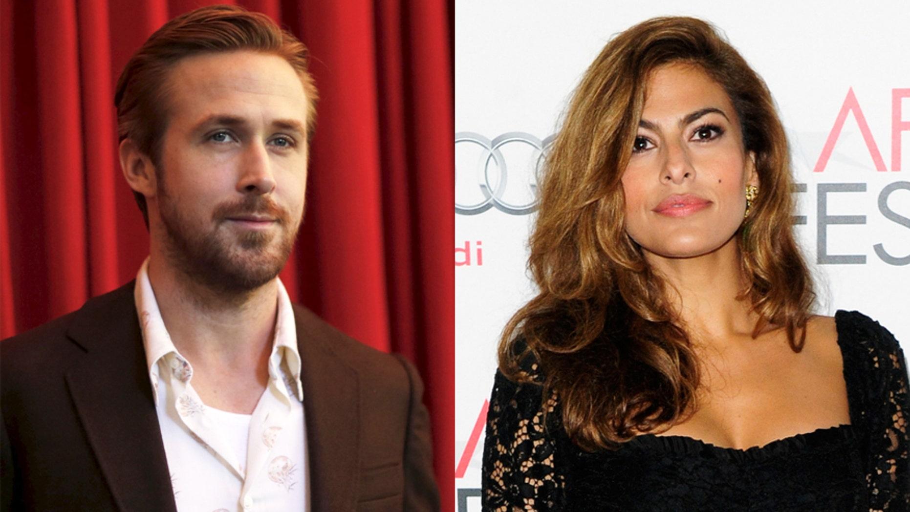Ryan Gosling, left, and Eva Mendes.