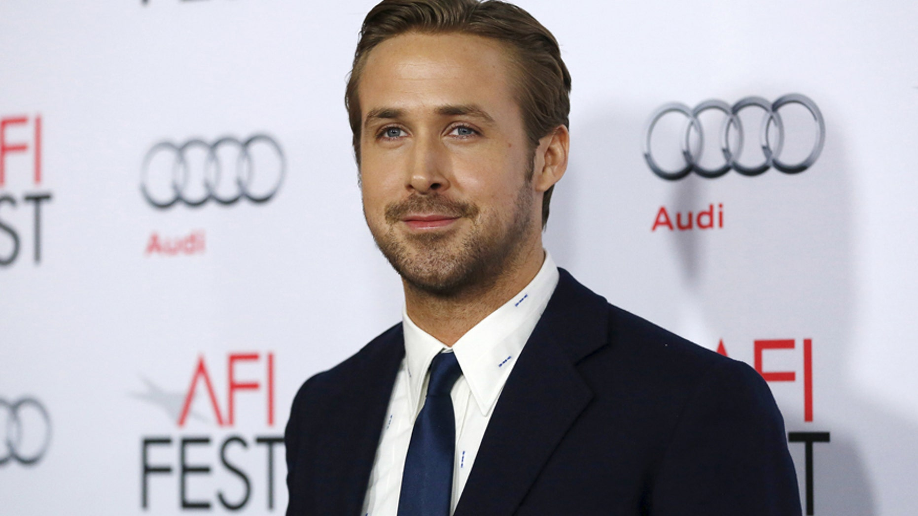"""Cast member Ryan Gosling poses at the premiere of """"The Big Short"""" during the closing night of AFI Fest 2015 in Hollywood, California November 12, 2015."""