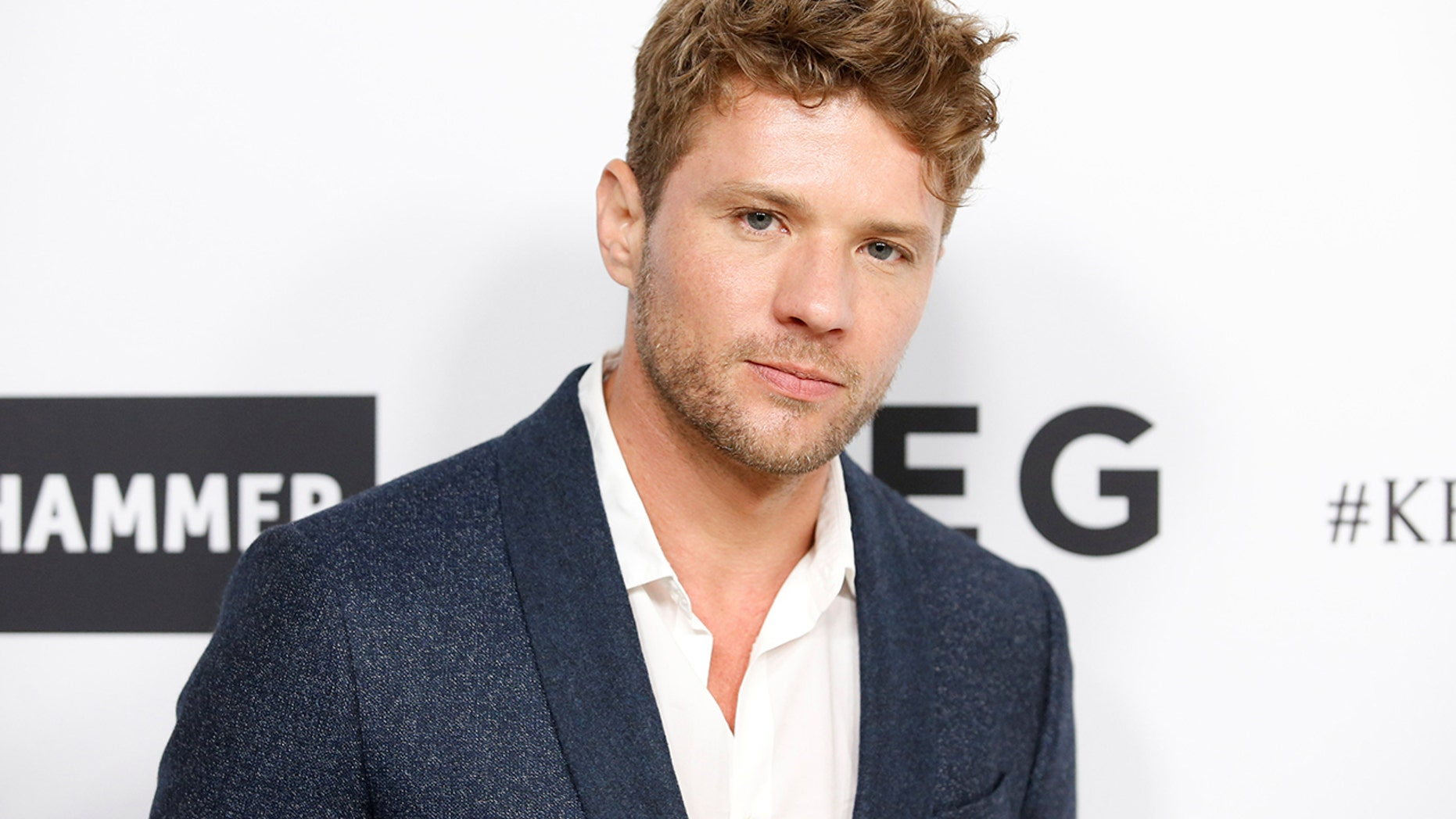 Actor Ryan Phillippe poses at Elton John's 70th Birthday and 50-Year Songwriting Partnership with Bernie Taupin benefiting the Elton John AIDS Foundation and the UCLA Hammer Museum at RED Studios Hollywood in Los Angeles, March 25, 2017.