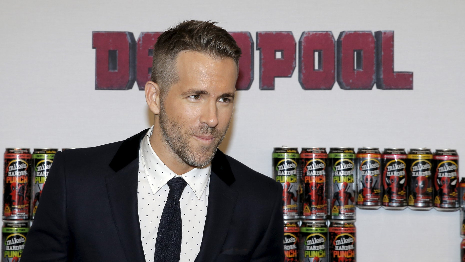 "Ryan Reynolds at the premiere of ""Deadpool"" in New York."