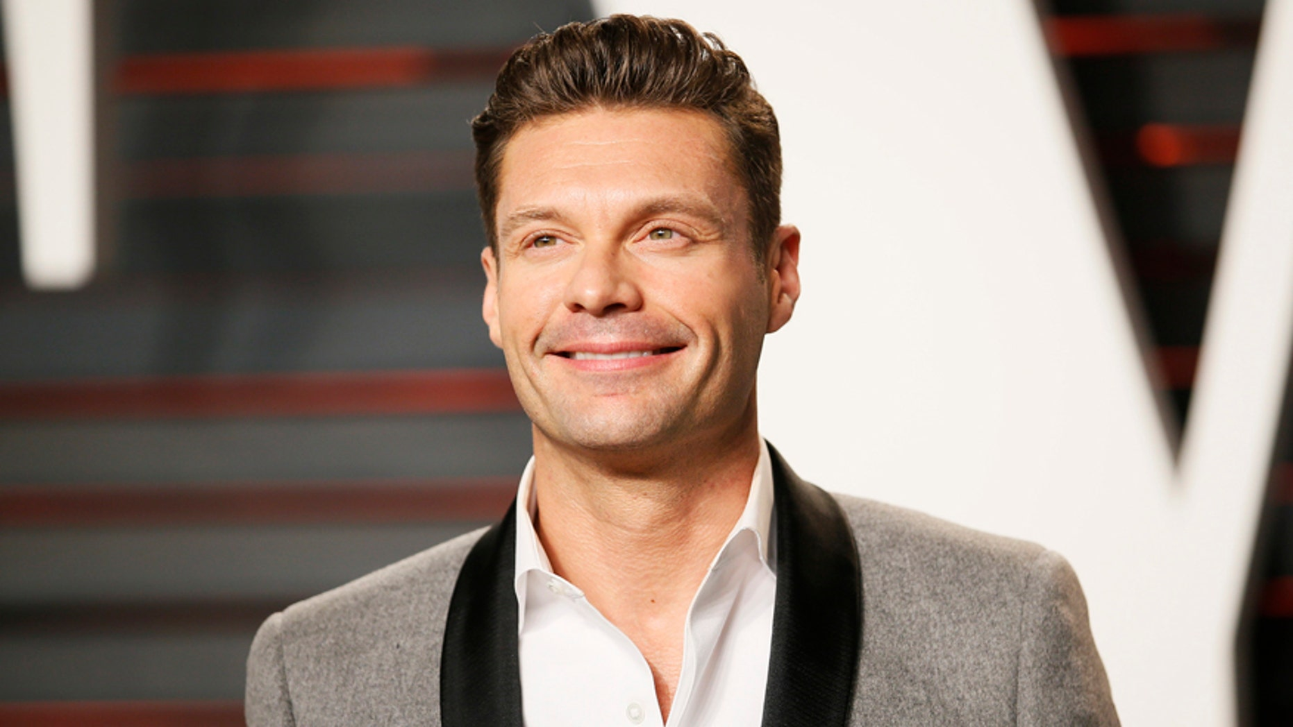 yan Seacrest arrives at the Vanity Fair Oscar Party in Beverly Hills (Reuters)