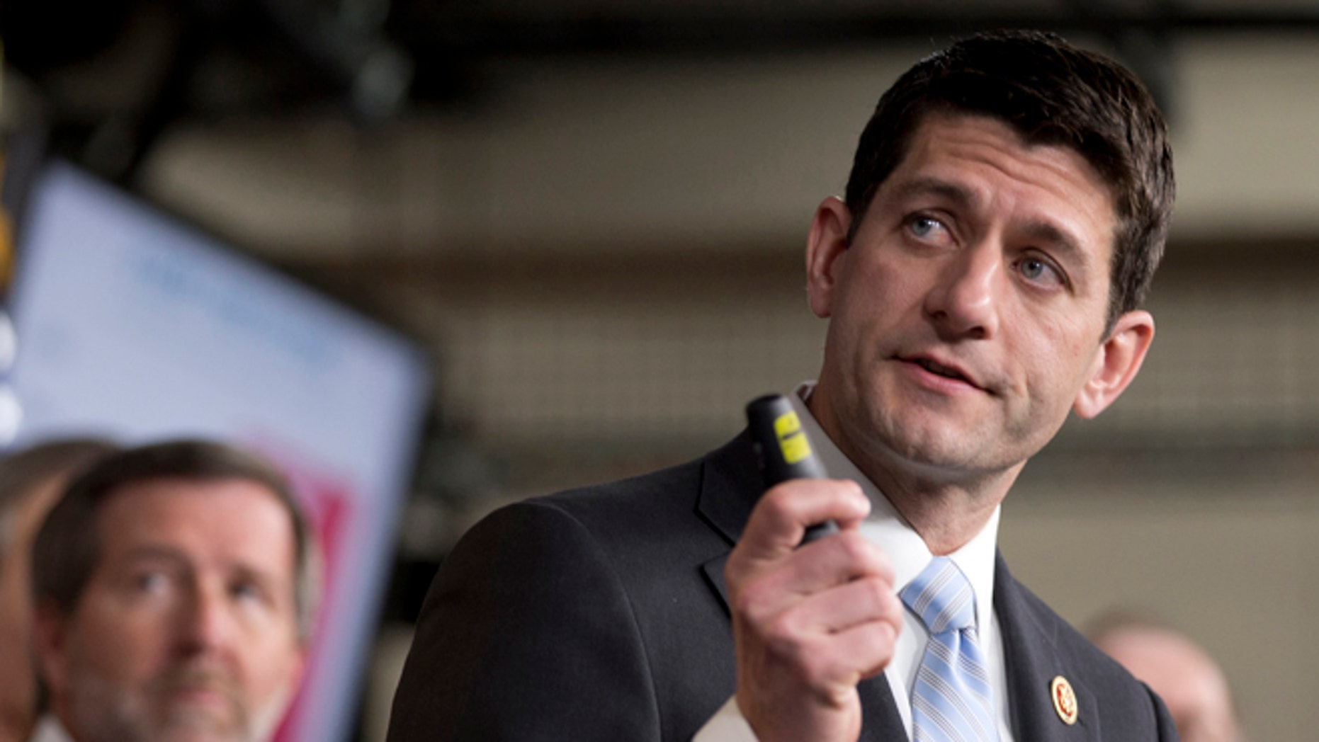 March 12, 2013: House Budget Committee Chairman Rep. Paul Ryan, R-Wis., speaks about the 2014 Budget Resolution during a news conference on Capitol Hill.