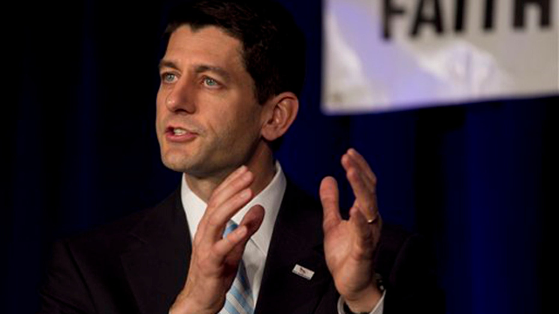 March 31, 2012: Rep. Paul Ryan speaks during a campaign stop for Mitt Romney in Pewaukee, Wis.