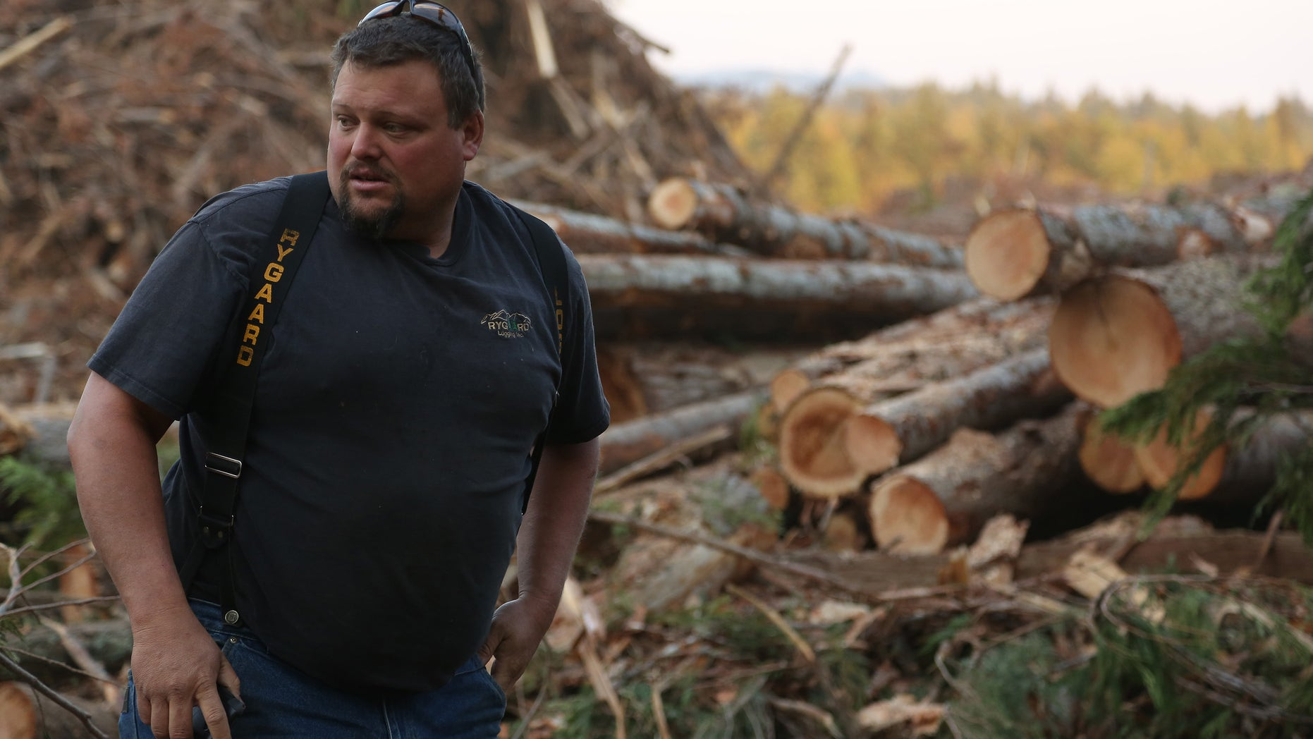"""Gabe Rygaard in a still from the History Channels' """"Ax Men."""""""
