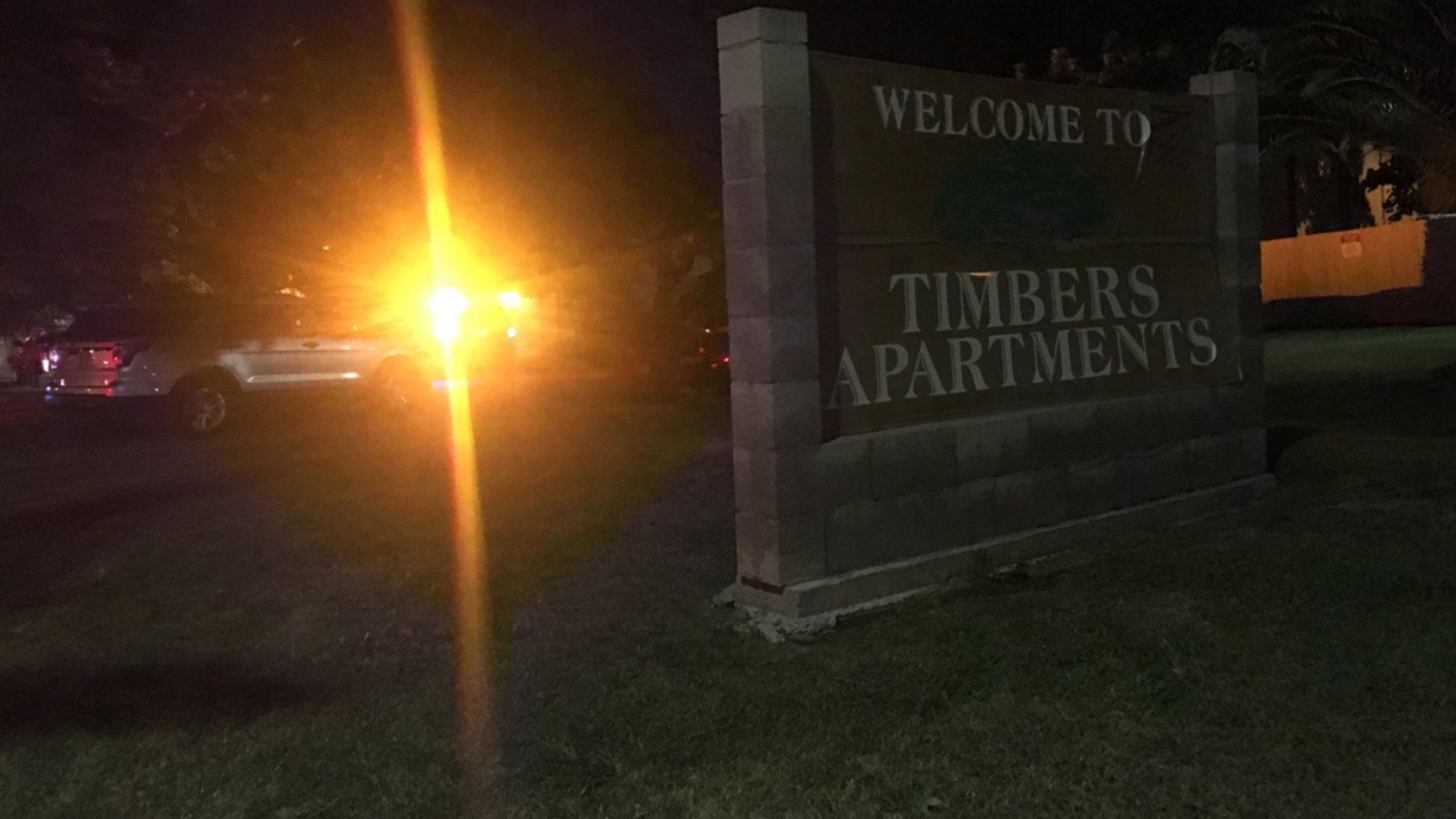 The apartment complex in West Sacramento where police say 3 children were found dead.