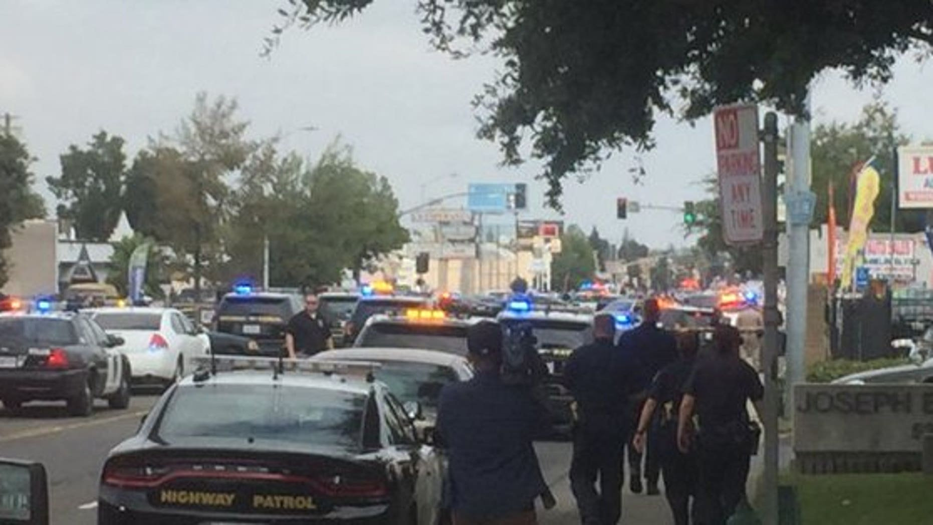 Two police officers in Sacramento were injured after a shootout with a suspect. The suspect was pronounced dead on the scene.