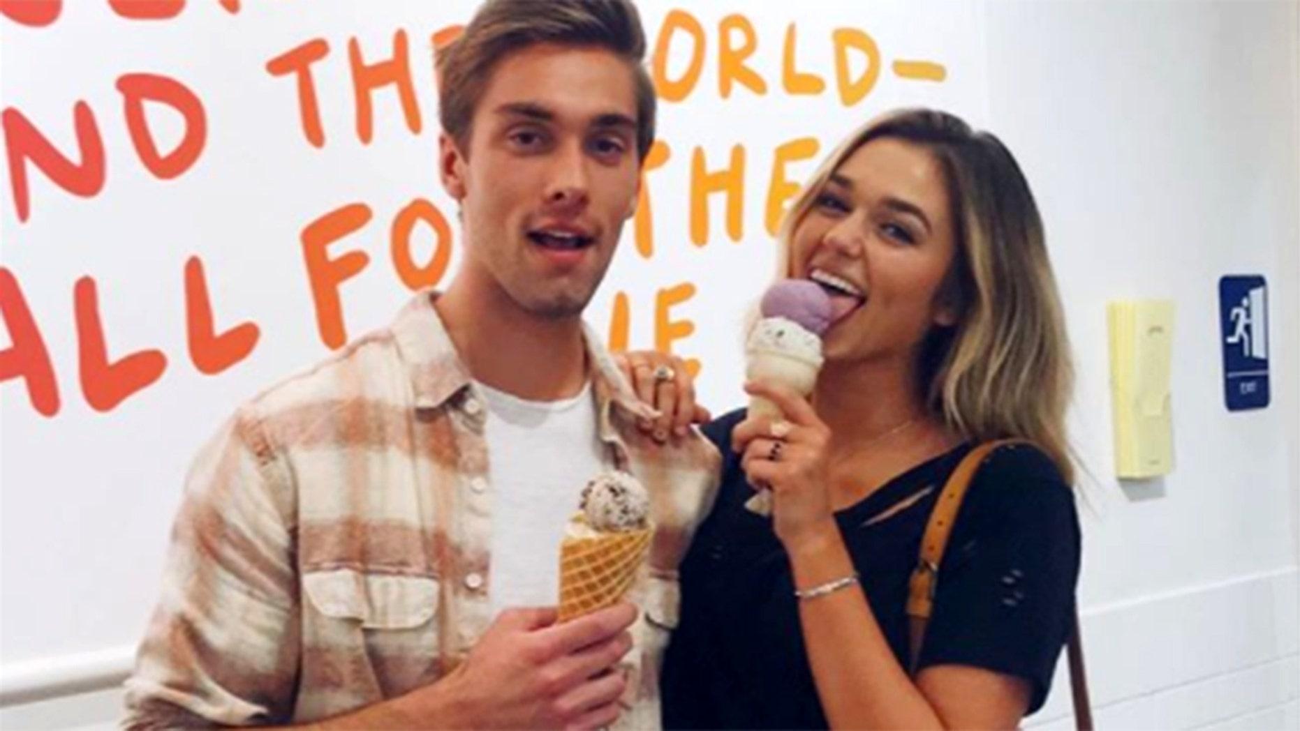 """Duck Dynasty"" star Sadie Robertson (right) is dating Disney Channel alum Austin North."