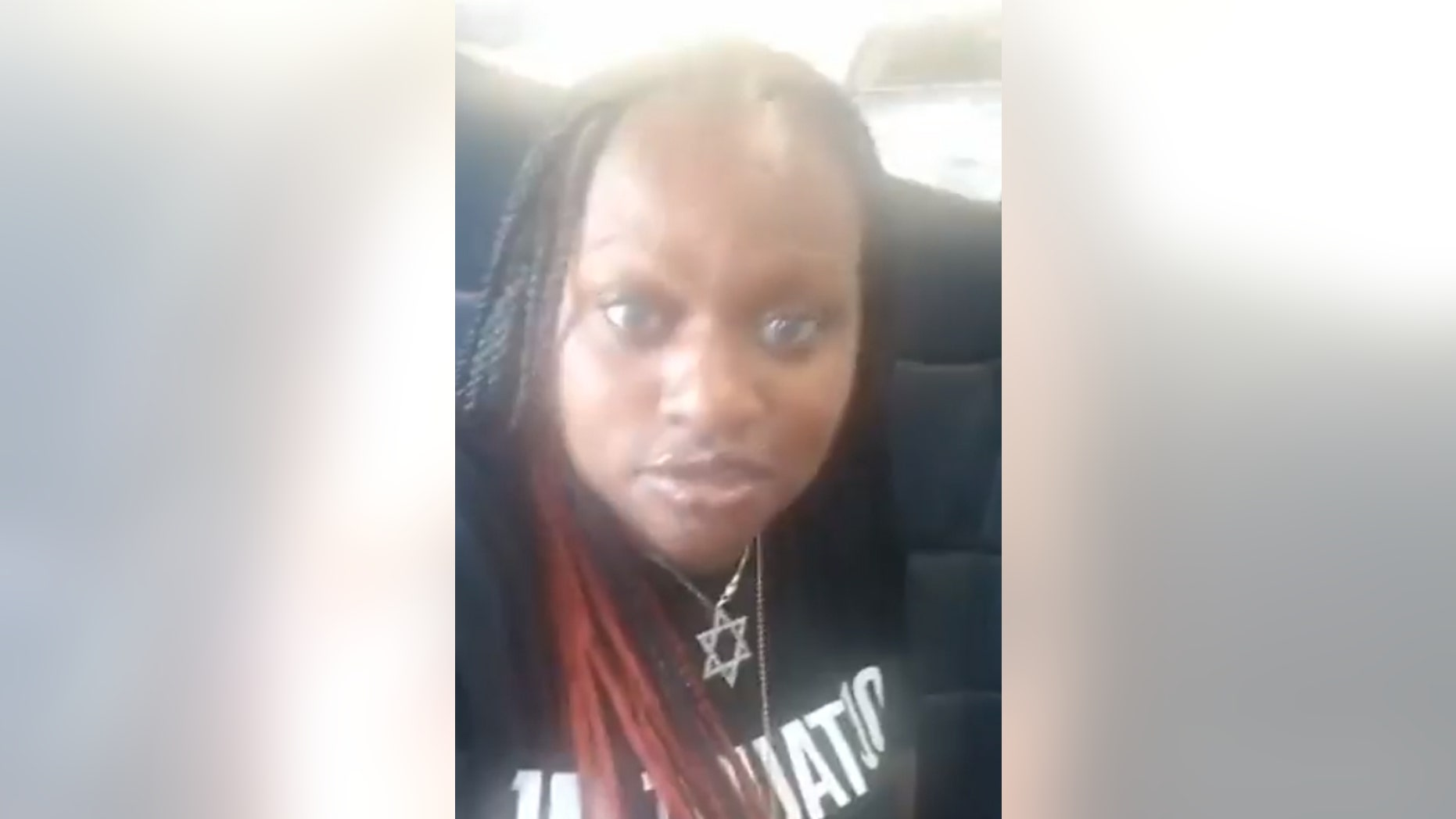 Safira Allen, 25, filmed the entire ordeal for Facebook Live as she was getting booted from the flight.