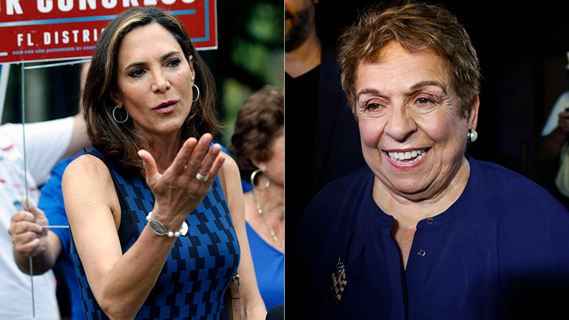 Donna Shalala, right, will face Maria Elvira Salazar for the right to represent Florida's 27th Congressional District in November.