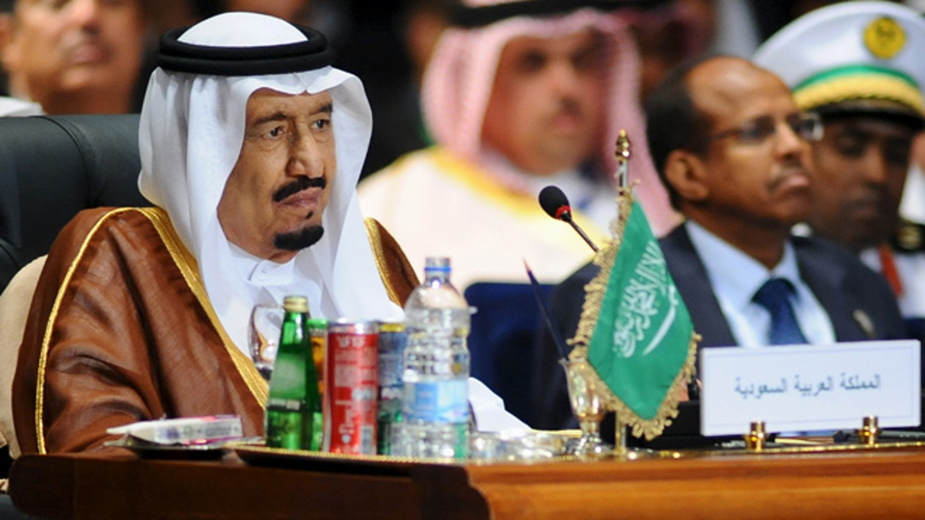 Mar 28, 2015: Saudi King Salman attends the opening meeting of the Arab Summit in Sharm el-Sheikh, in the South Sinai governorate, south of Cairo.