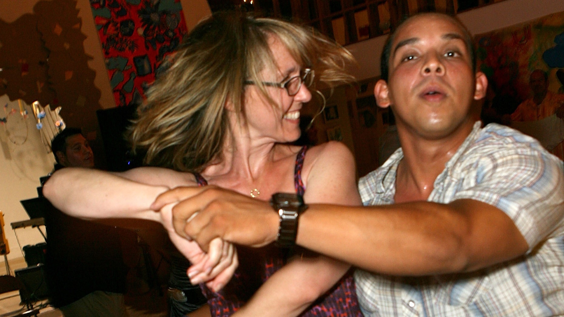 LOS ANGELES, CA - JULY 28:  Actress Monica Rosenthal dances the salsa at the Inner-City Arts Event on July 28, 2007 in Los Angeles, California.  (Photo by Michael Buckner/Getty Images)
